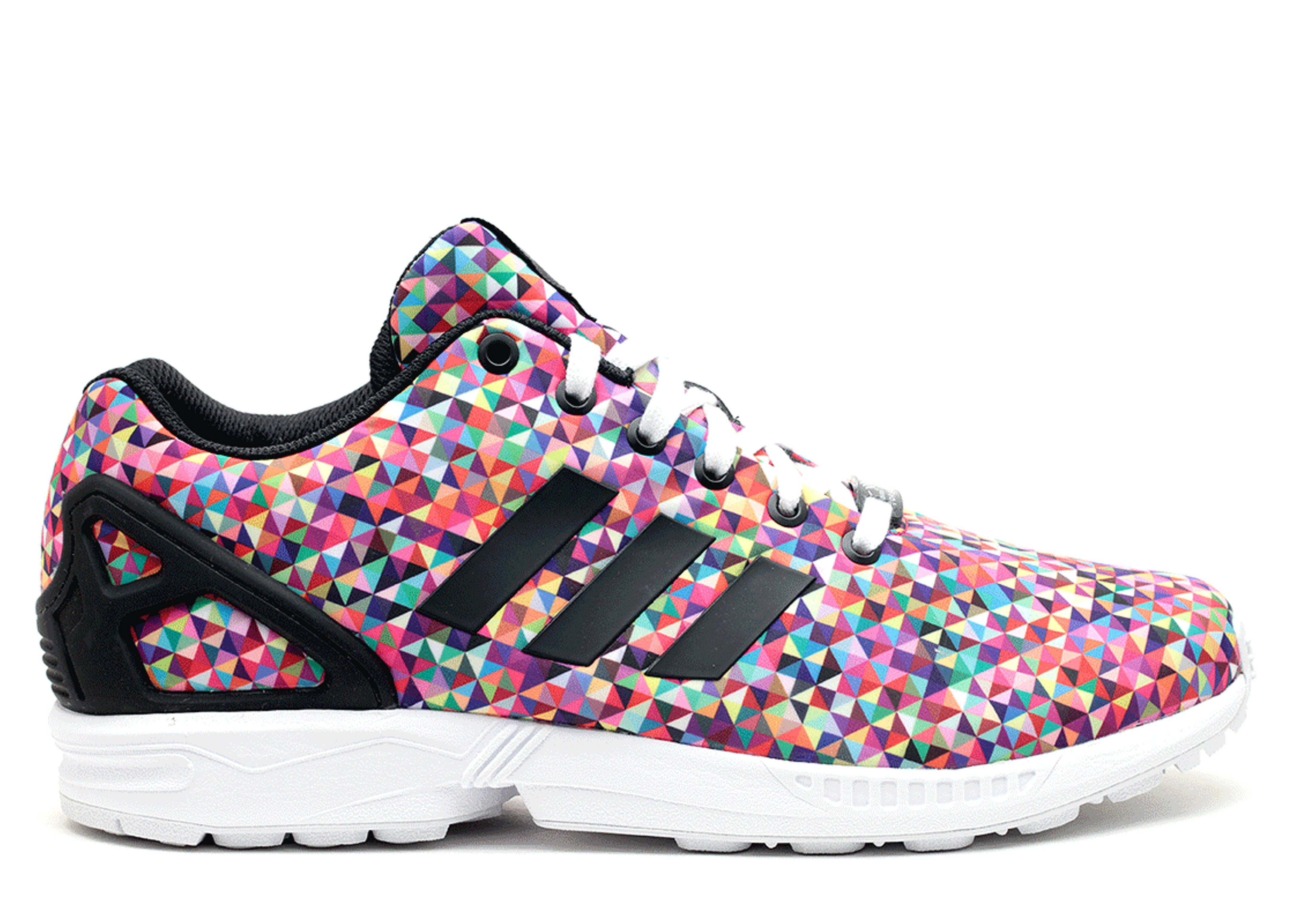 Adidas adidas Brown ZX Flux Animal Print Trainers Asos