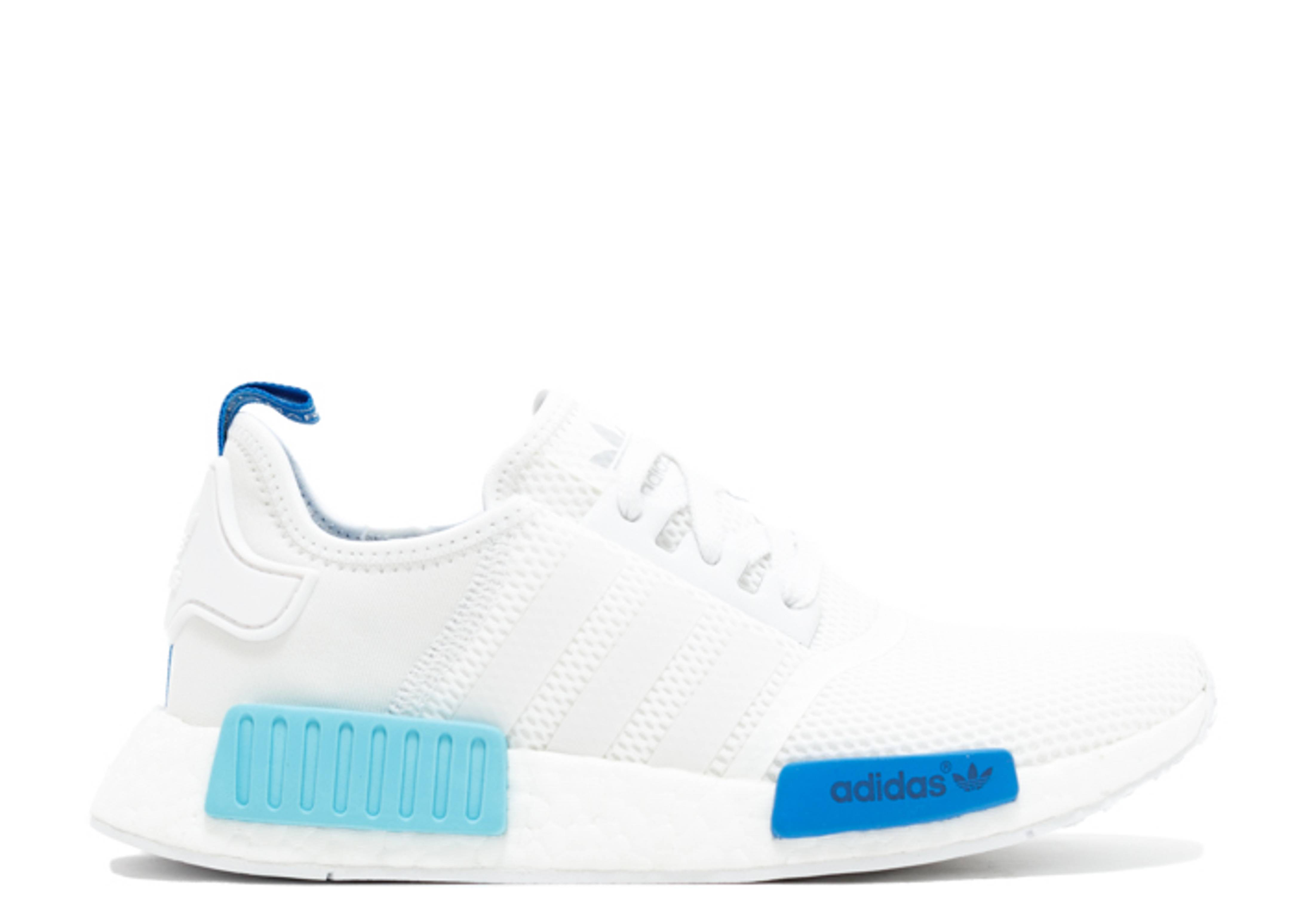 adidas nmd blue and white