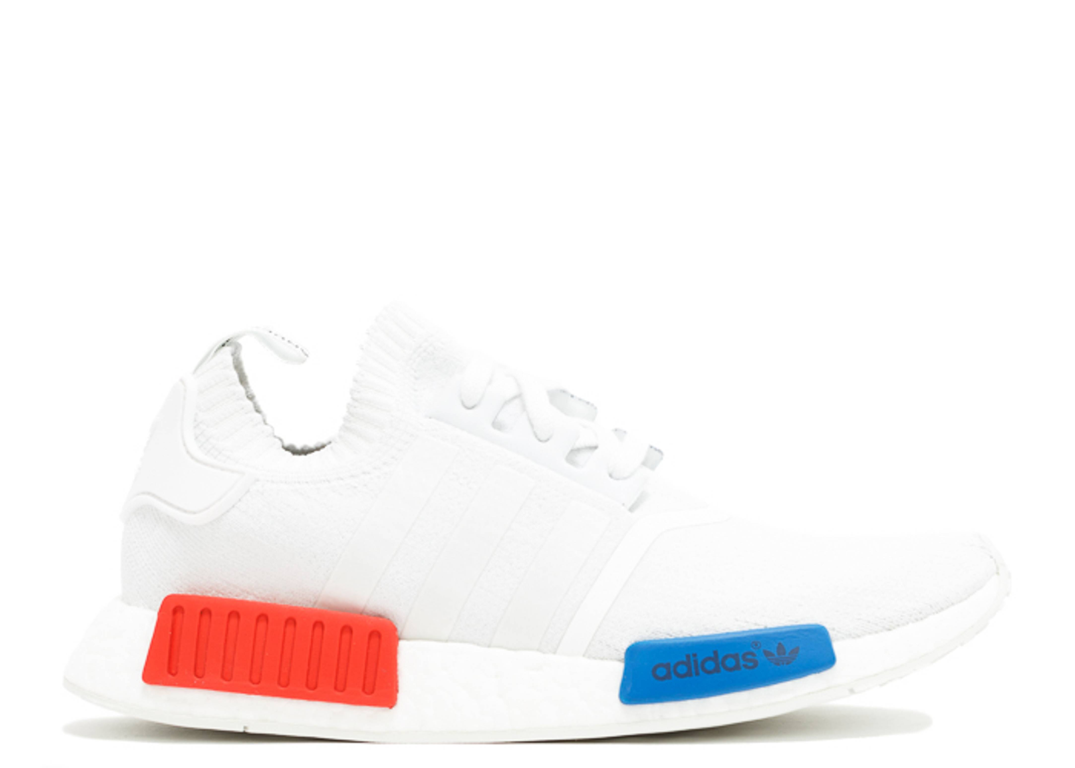Adidas Nmd White Red Blue