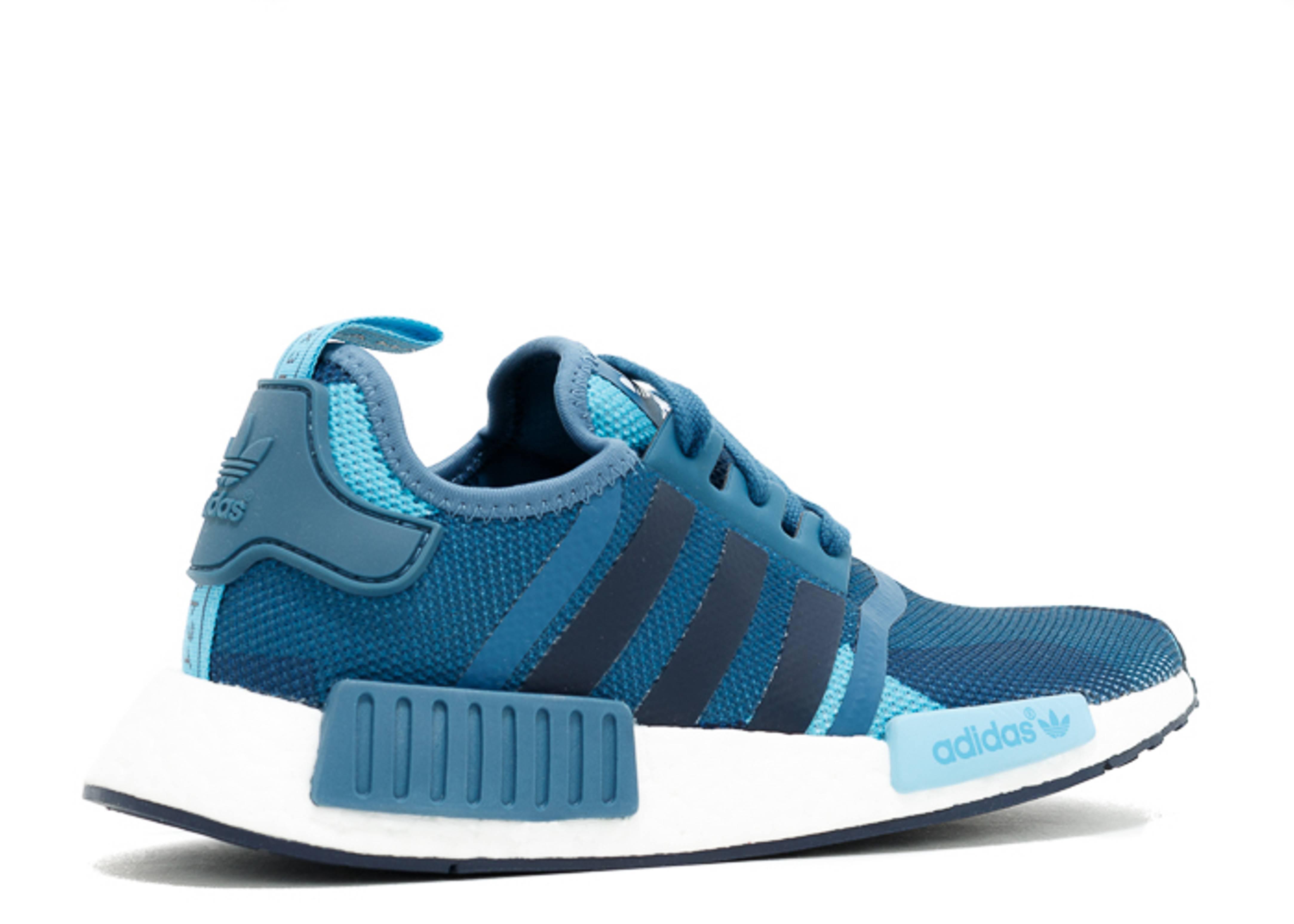 Nmd R1 W geometric Camo Adidas s75722 blanch blue
