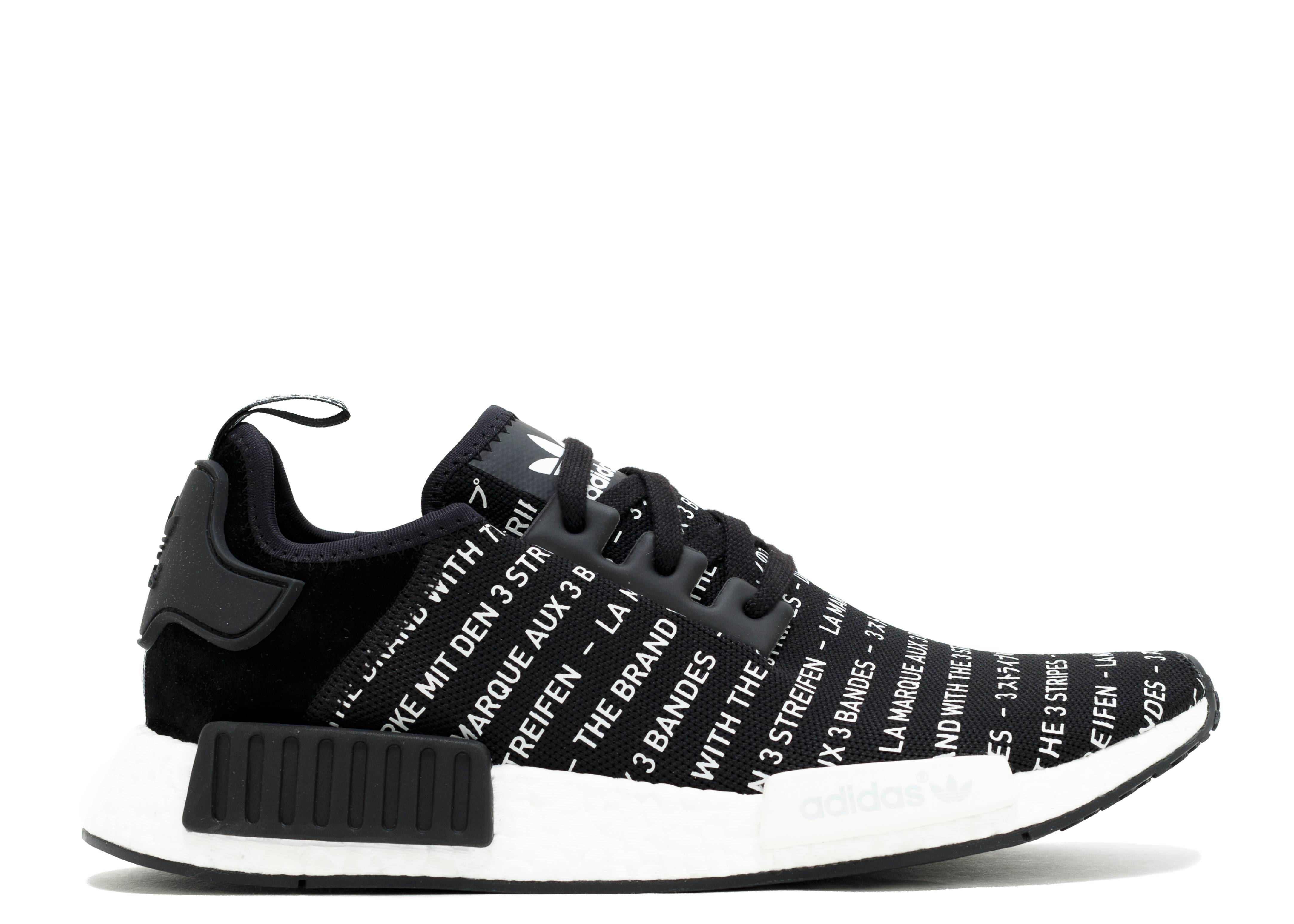 "Authentic Adidas NMD R1 ""3 Stripes"" Black White"