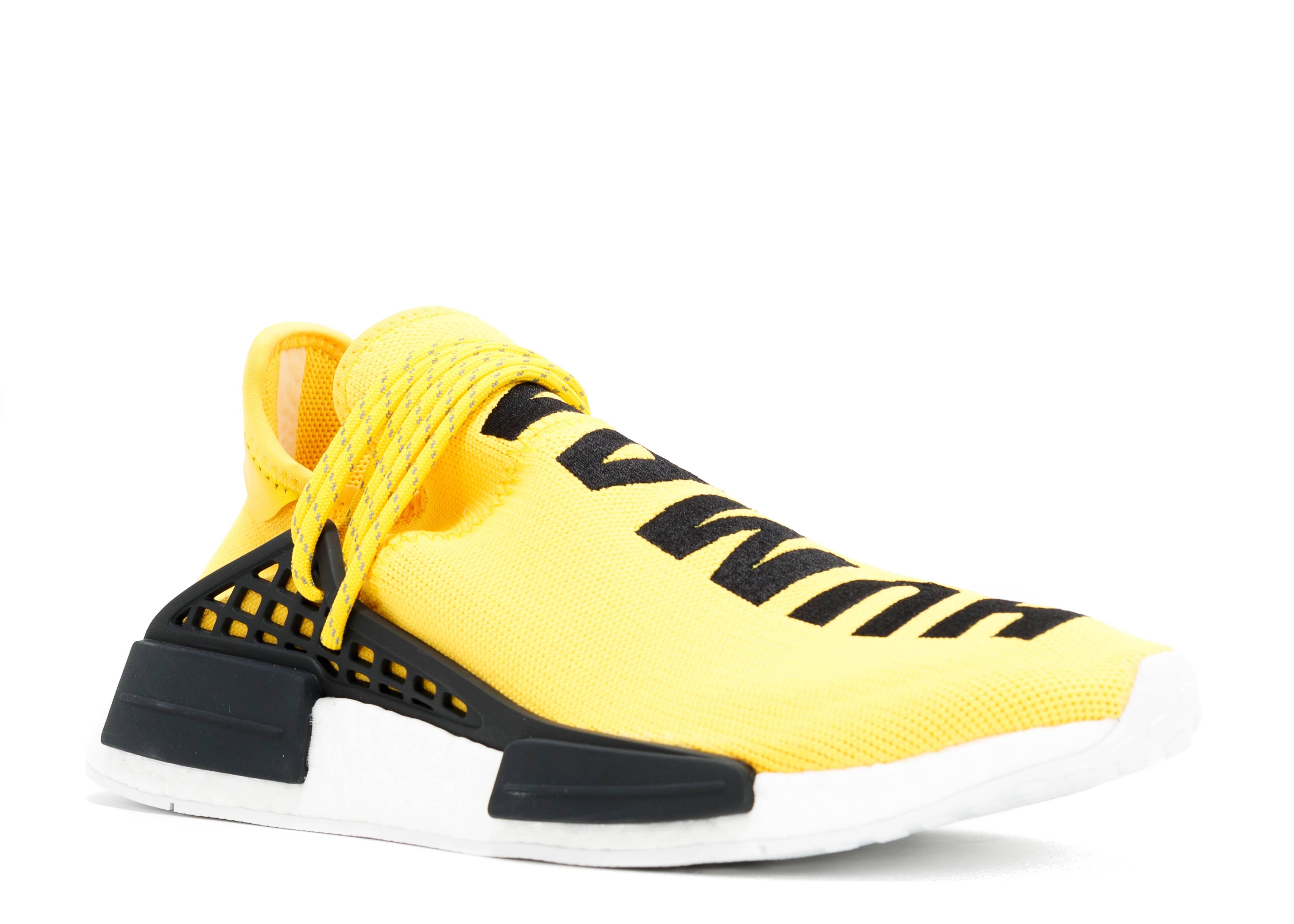 calidad autentica comprar baratas mirada detallada Pharrell X NMD Human Race 'Yellow' - Adidas - BB0619 - yellow/black |  Flight Club
