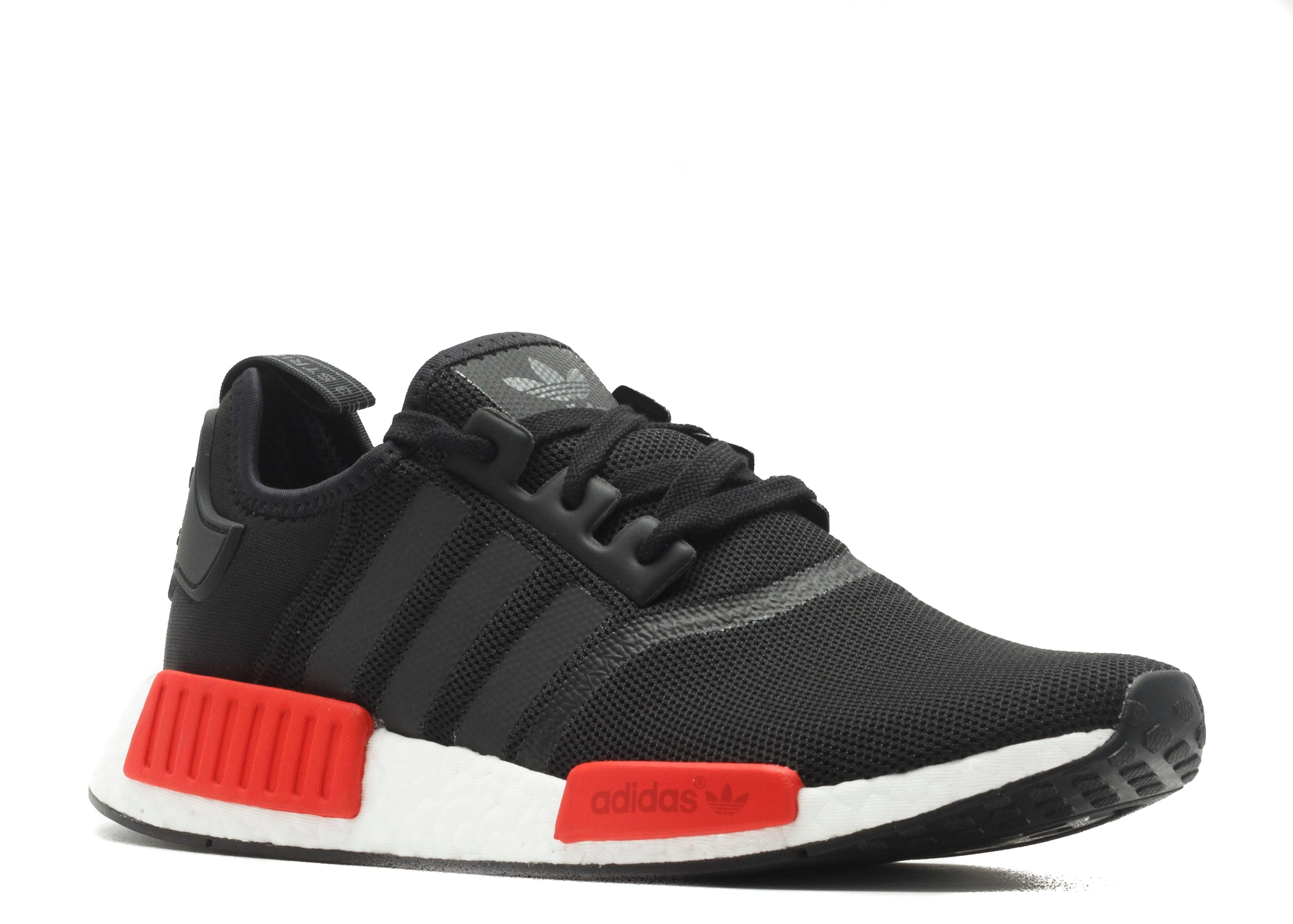 adidas nmd black grey white red
