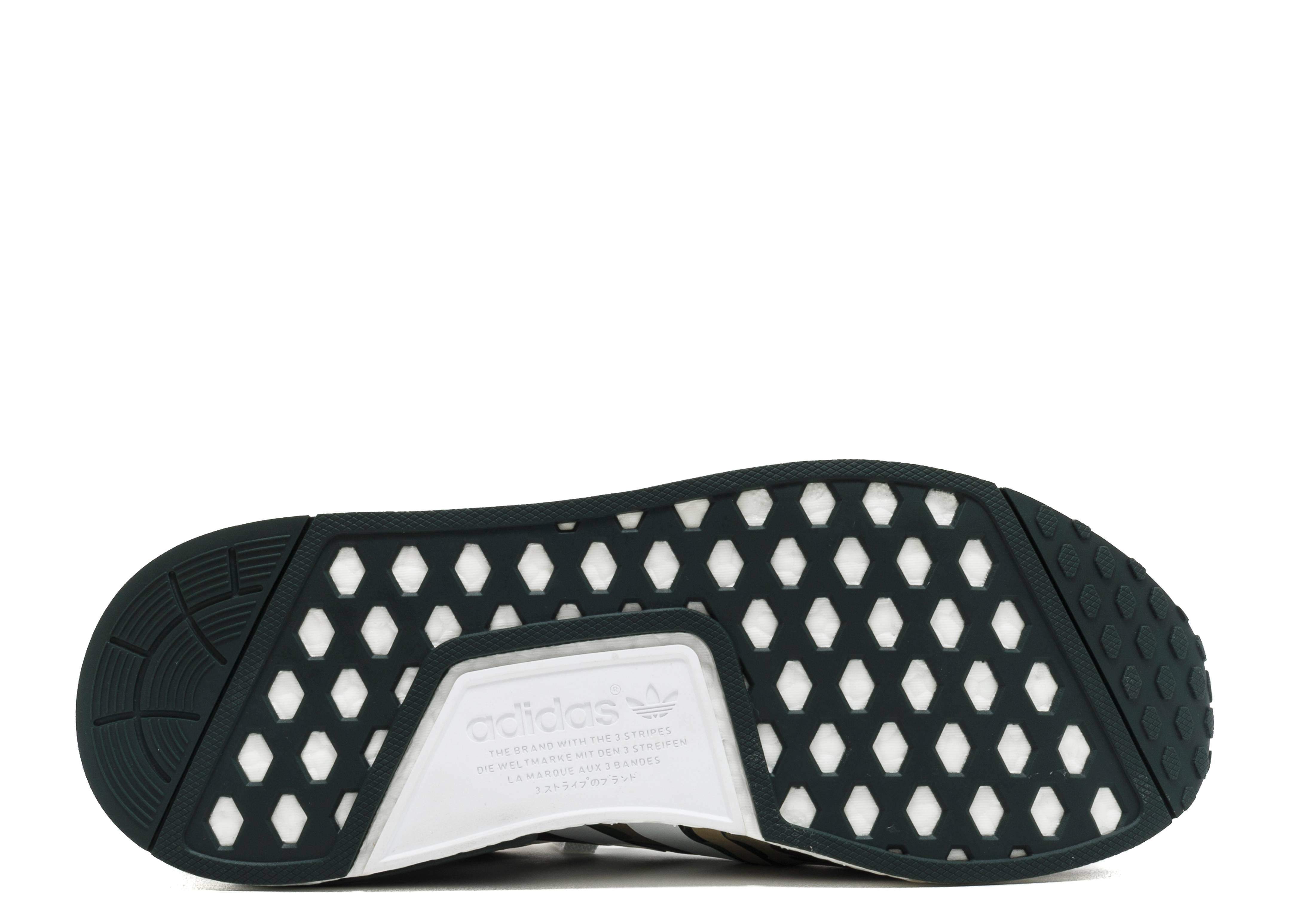 adidas Originals NMD R1 PK Primeknit Boost STLT Stealth Pack (oliv grün weiss) (EU 43 13 US 9.5)