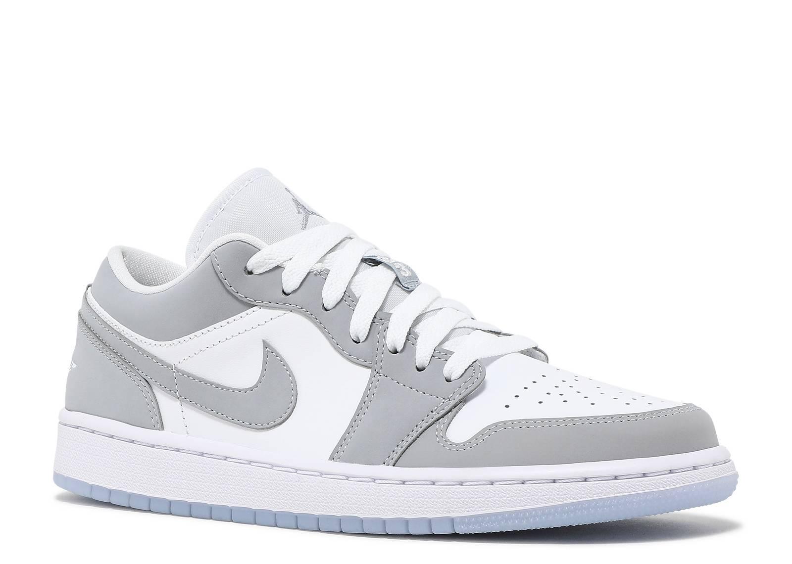 Wmns Air Jordan 1 Low 'White Wolf Grey'