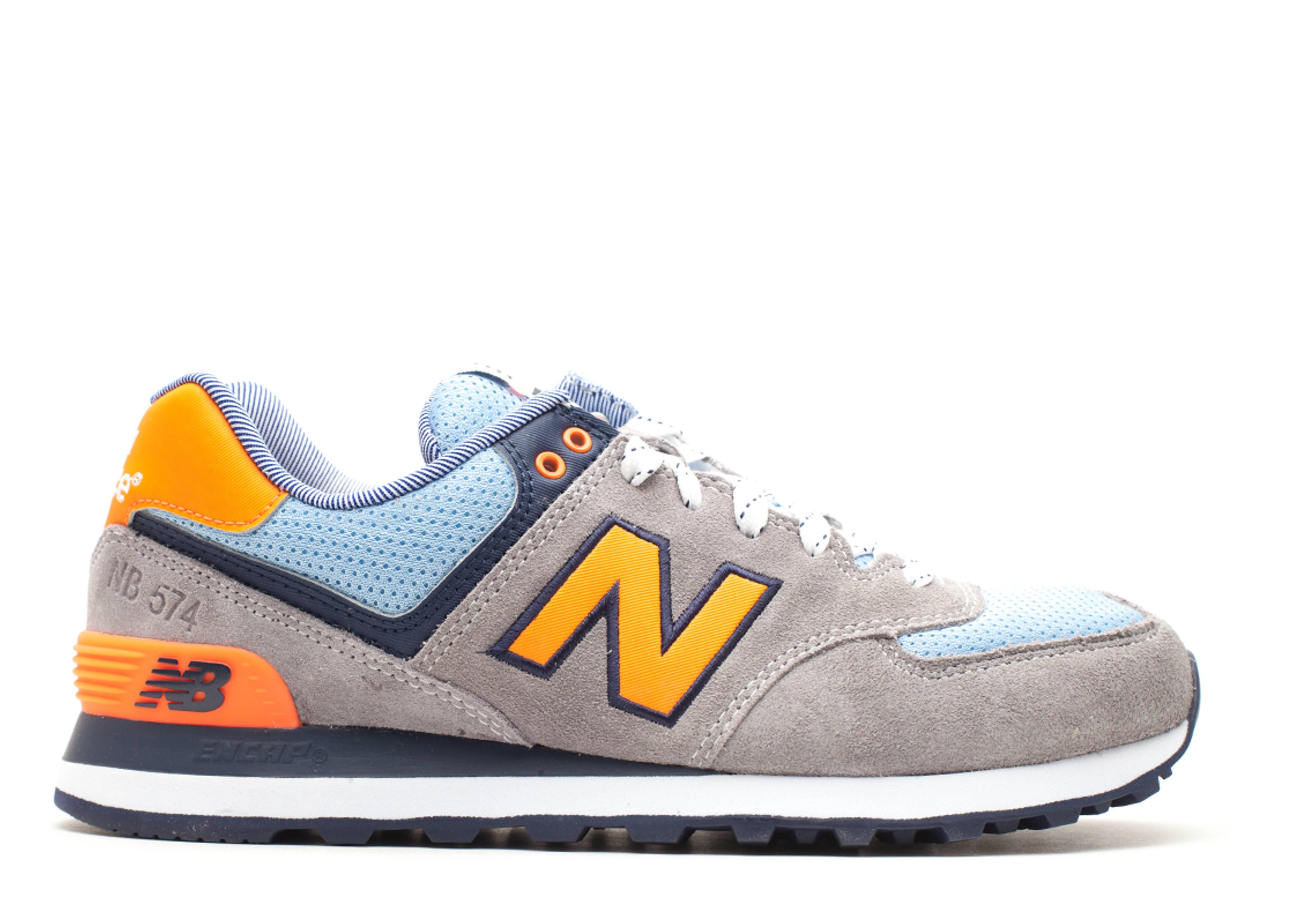 new balance 574 blu e giallo