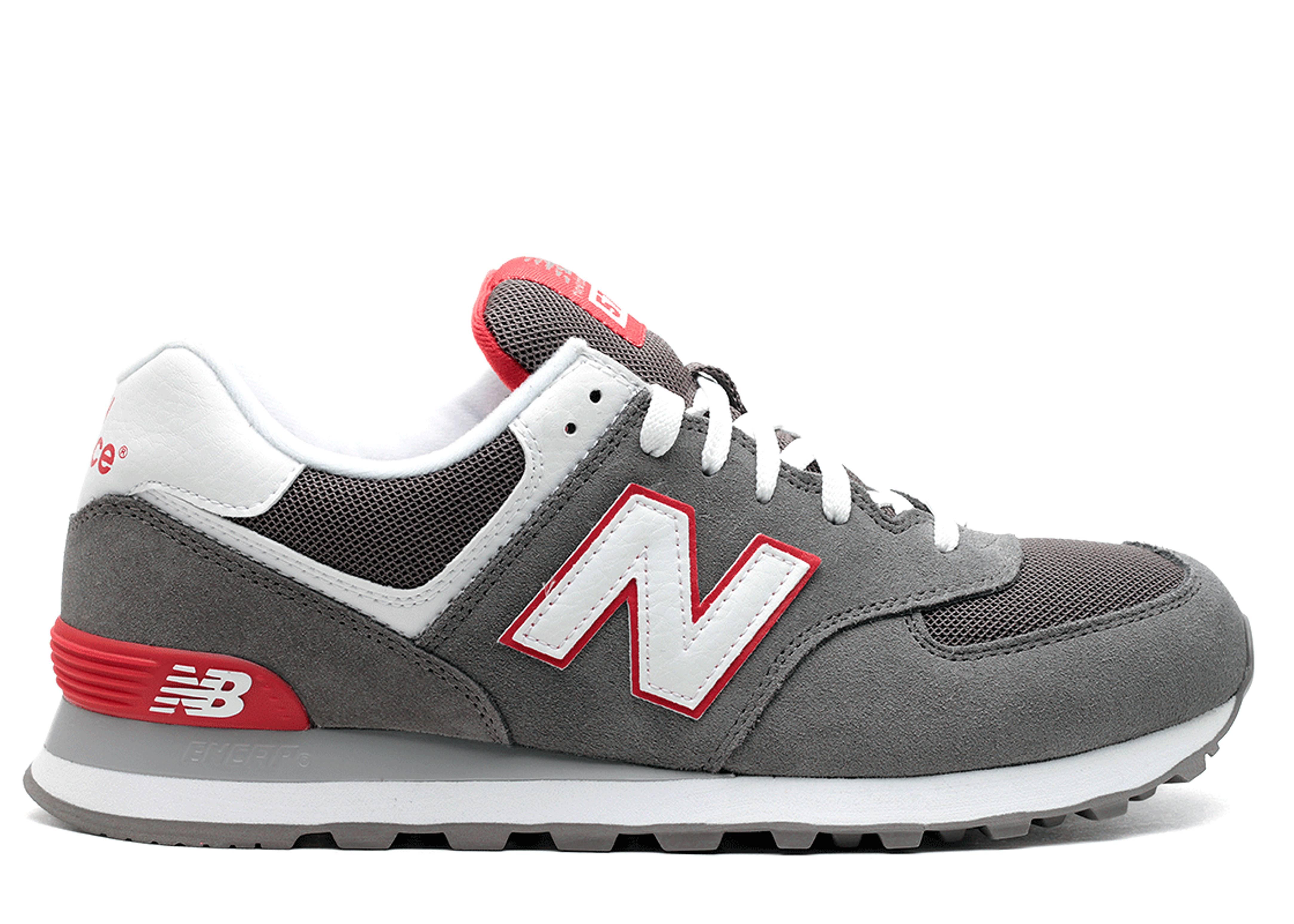 sale retailer e321c a9ebe Ml574 - New Balance - ml574grw - grey/white/red | Flight Club