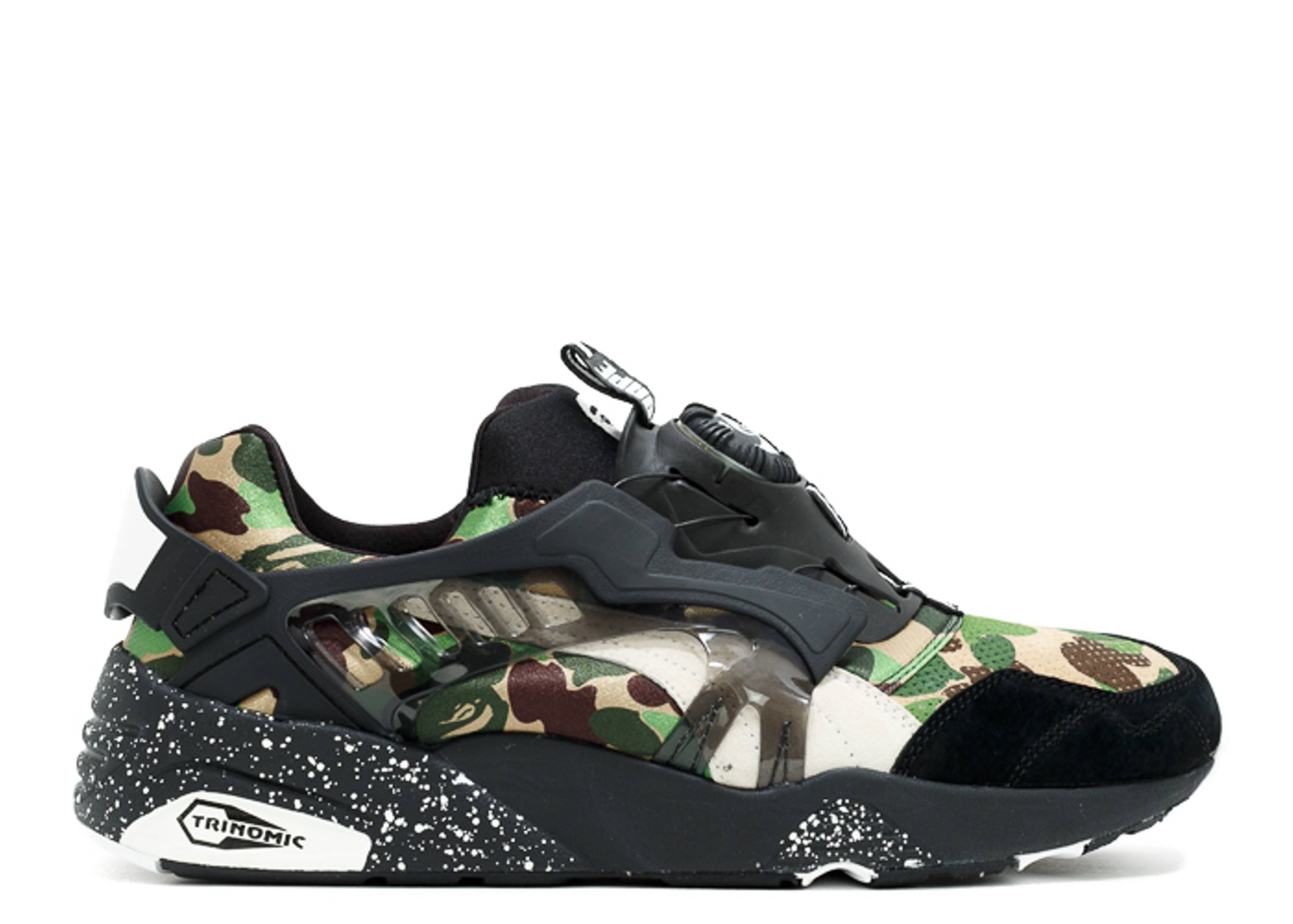 disc blaze bape puma 35884601 camo black. Black Bedroom Furniture Sets. Home Design Ideas