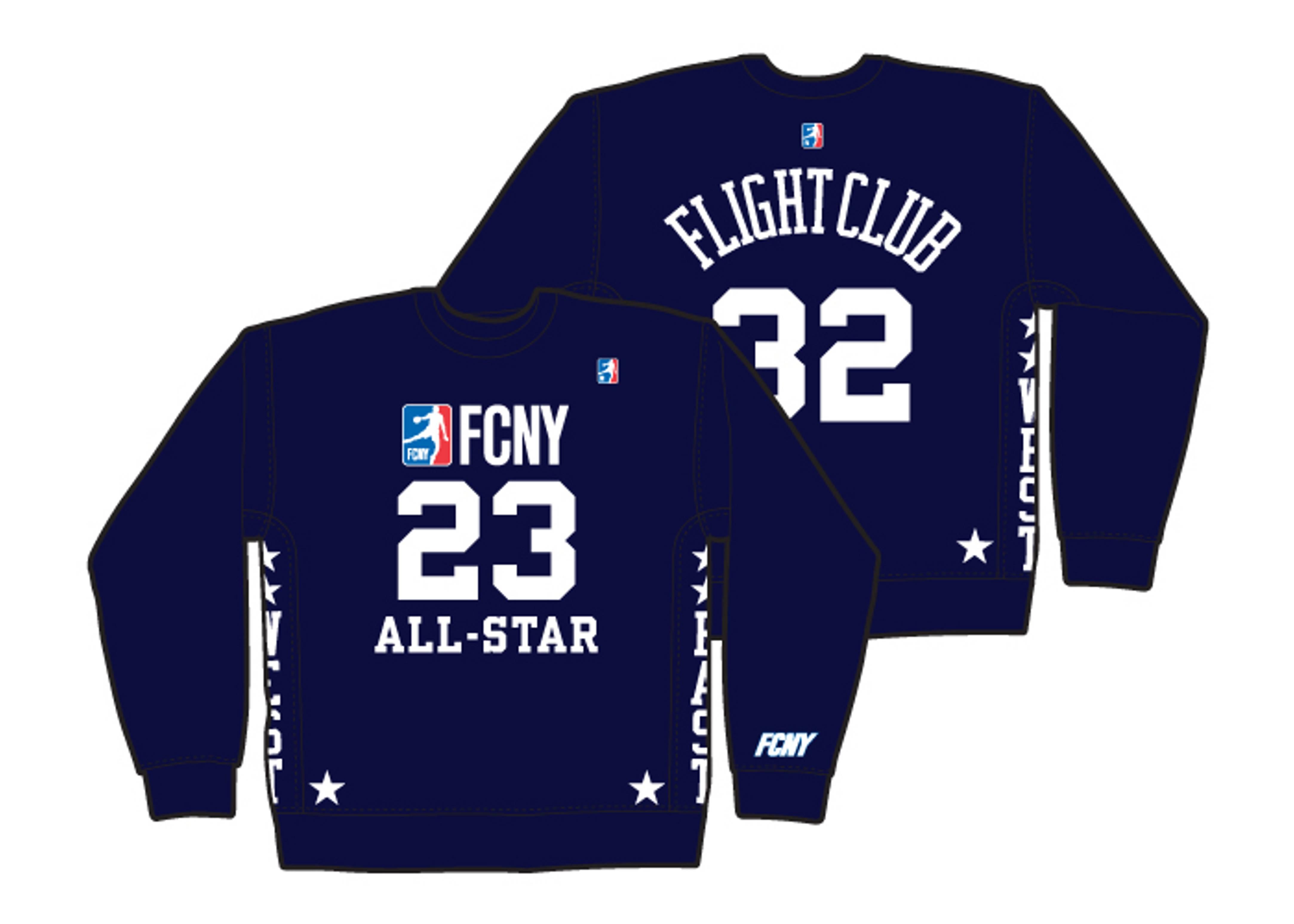 """all-star hybrid sweatshirt """"east/west"""""""