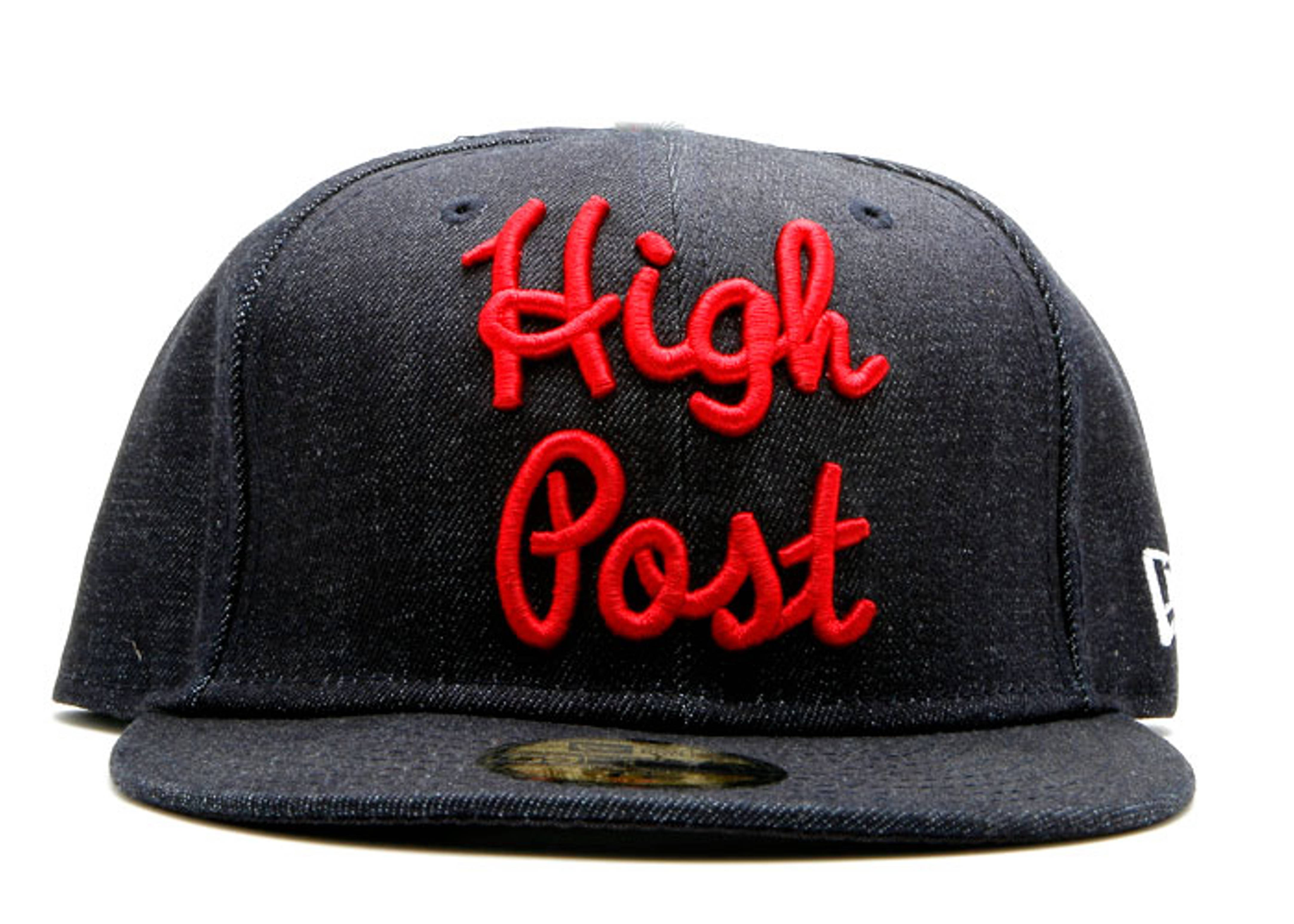 "denim new era fitted ""high post"""