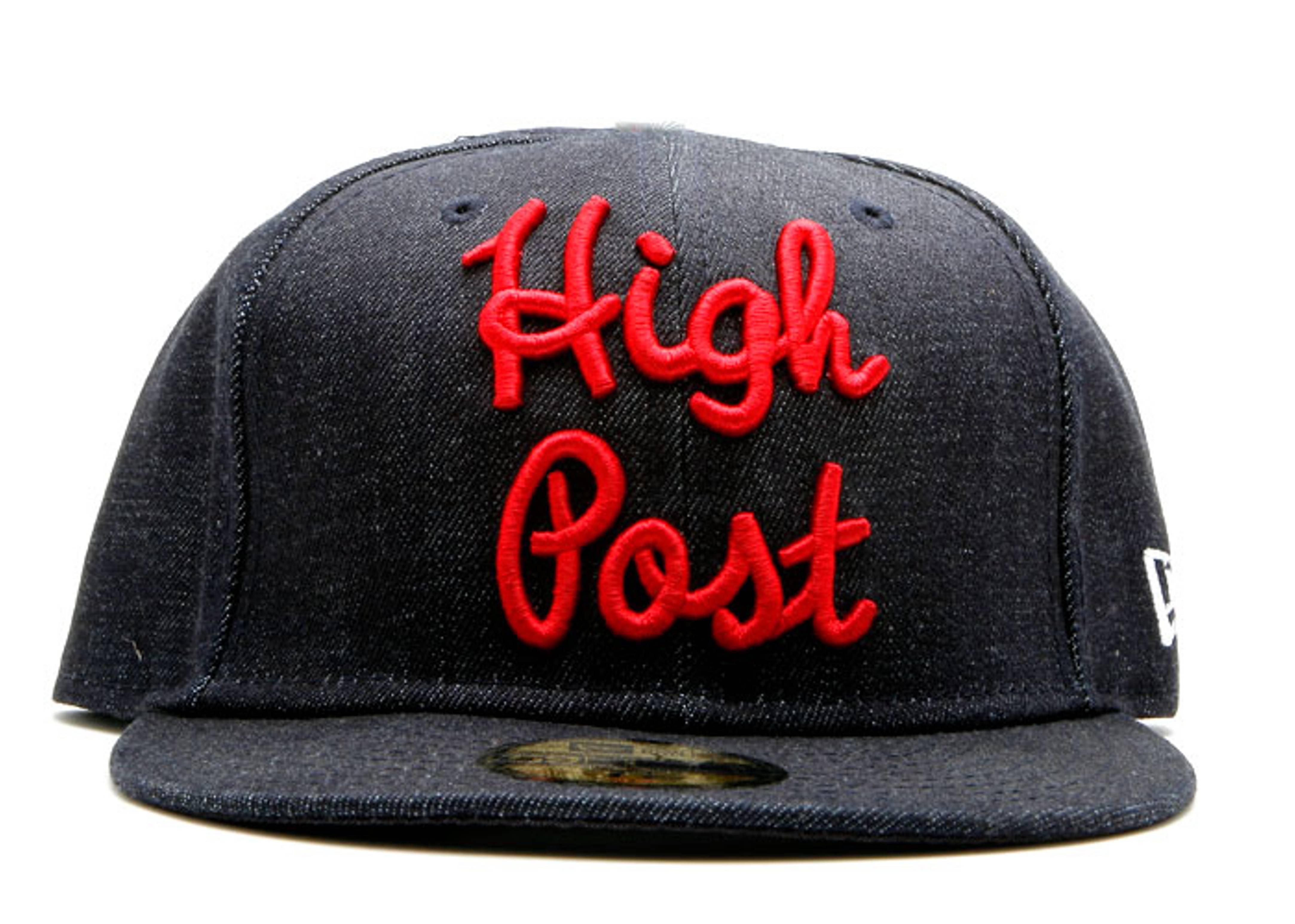 "denim new era fitted ""high post"""