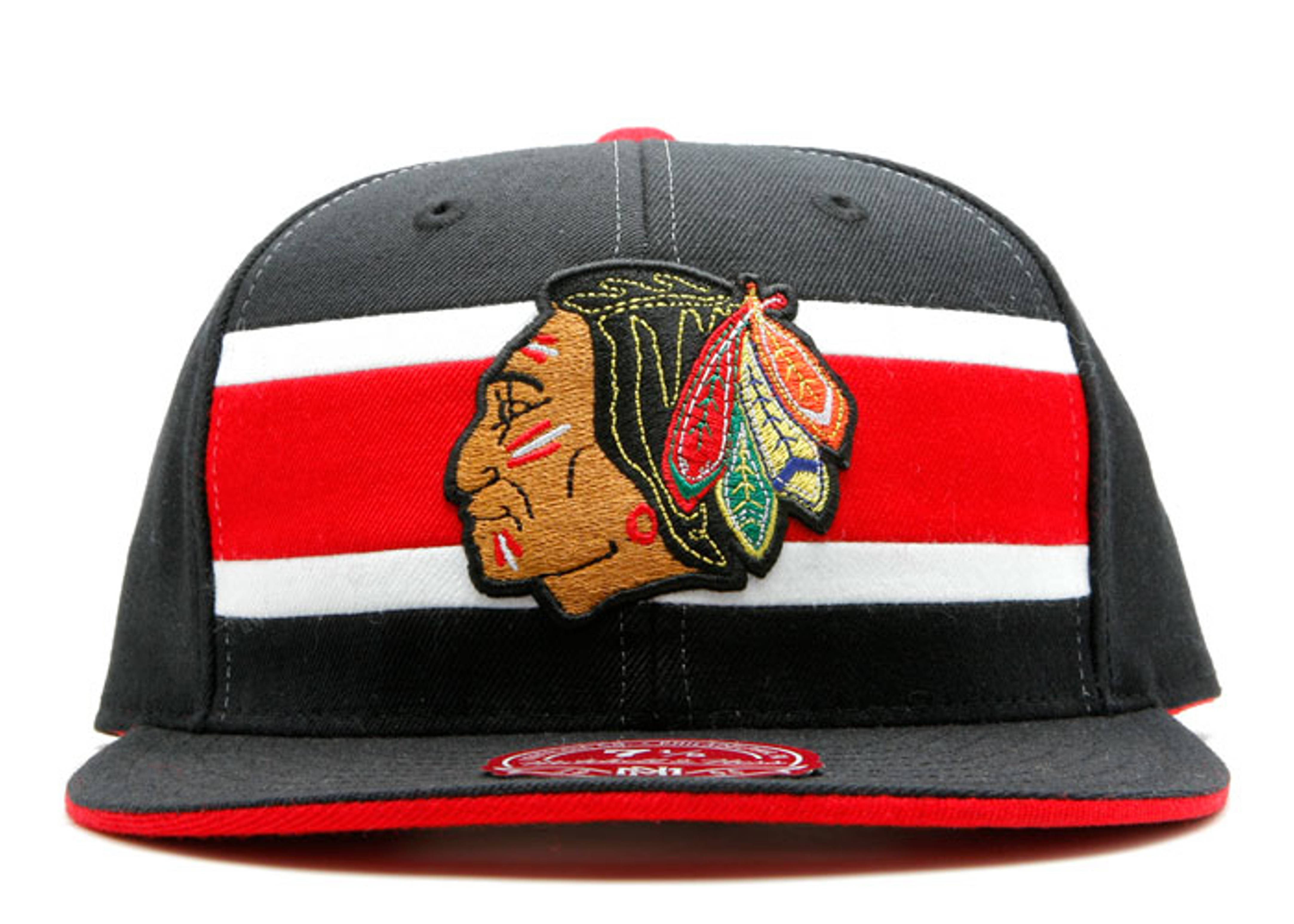 chicago blackhawks fitted stripe