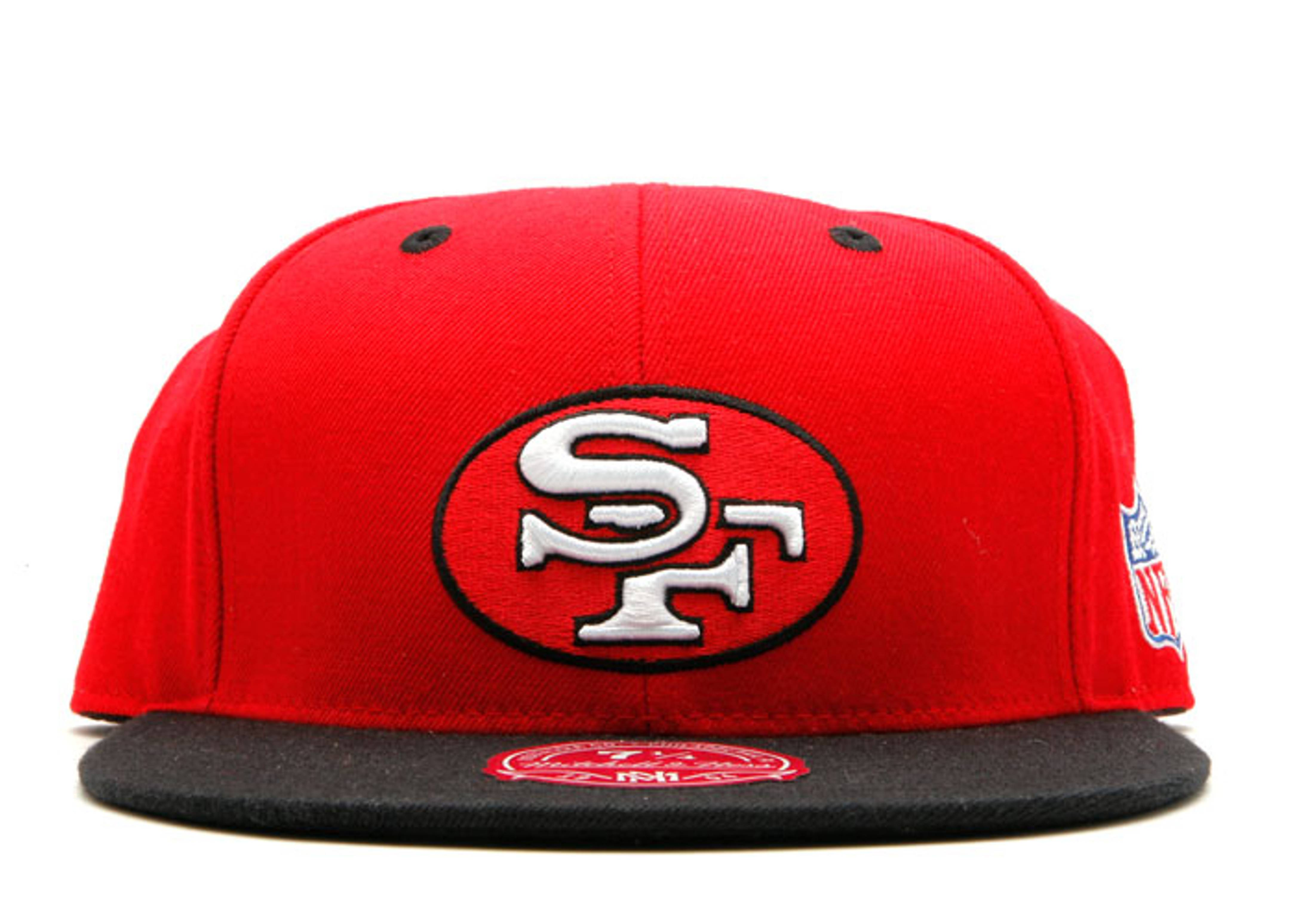 da64b78f San Francisco 49ers Fitted - Mitchell & Ness - tl89mtc649ers - red ...
