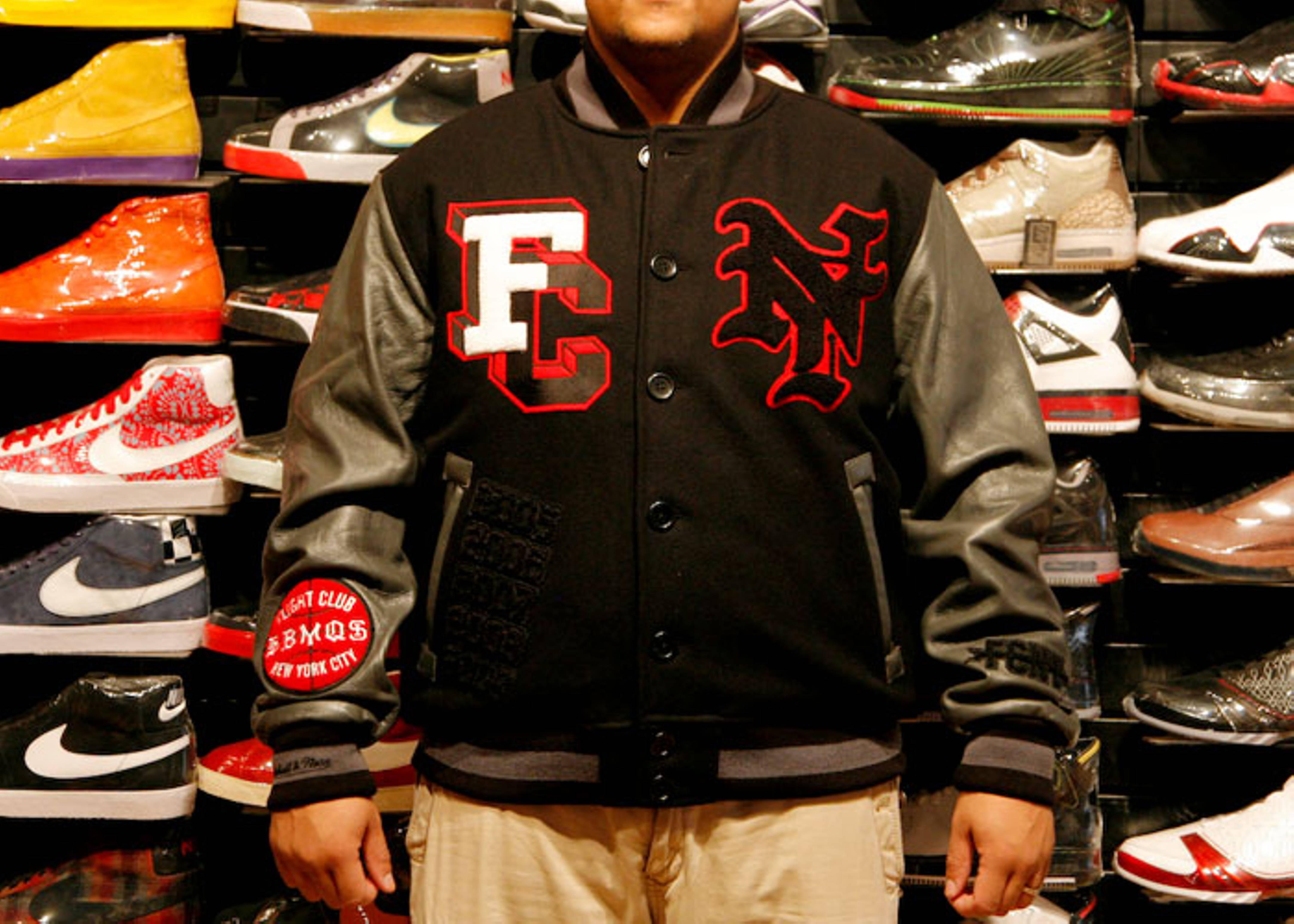 "fc x mitchell & ness varsity jacket ""80/20"""