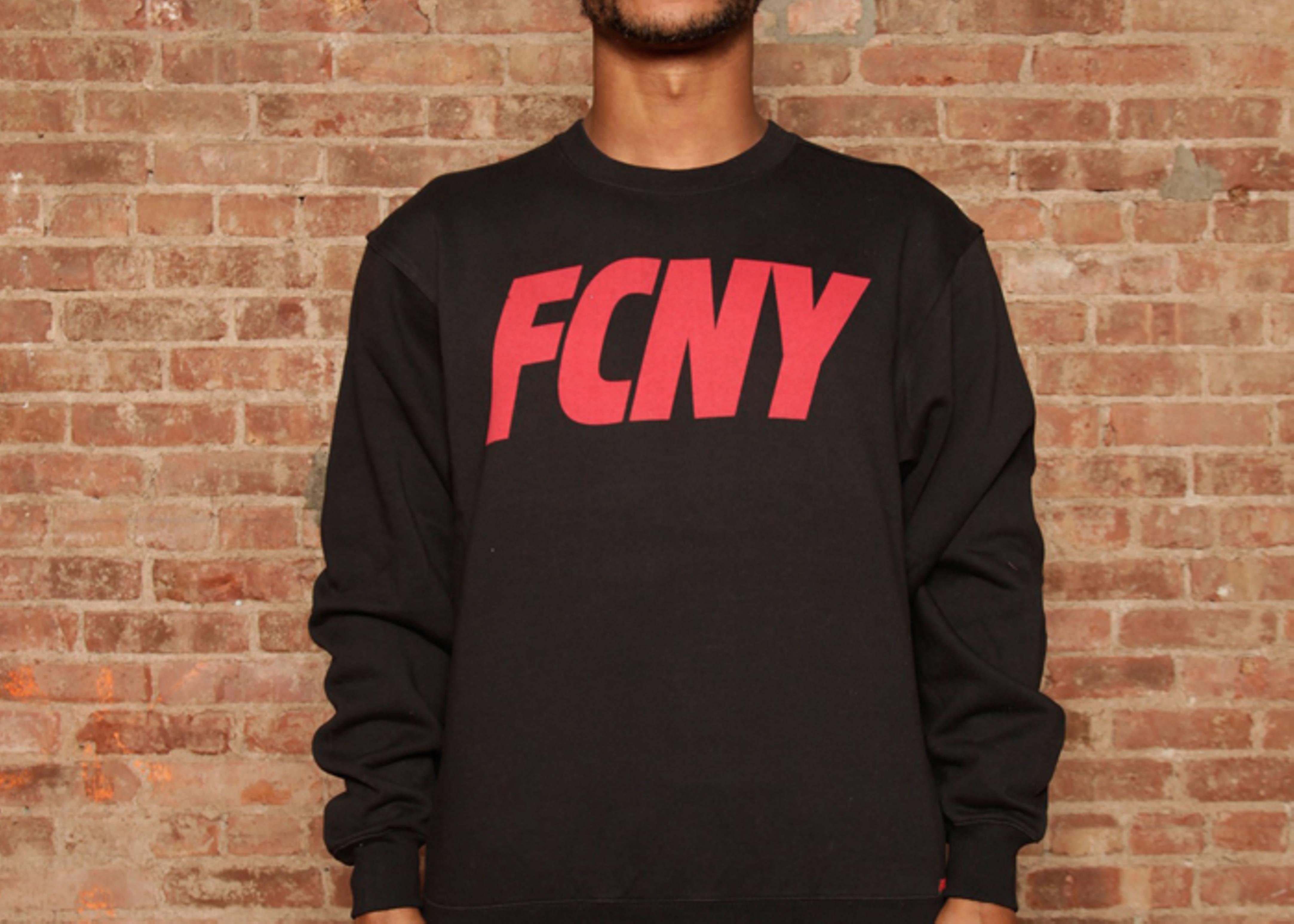 fcny slant logo crewneck