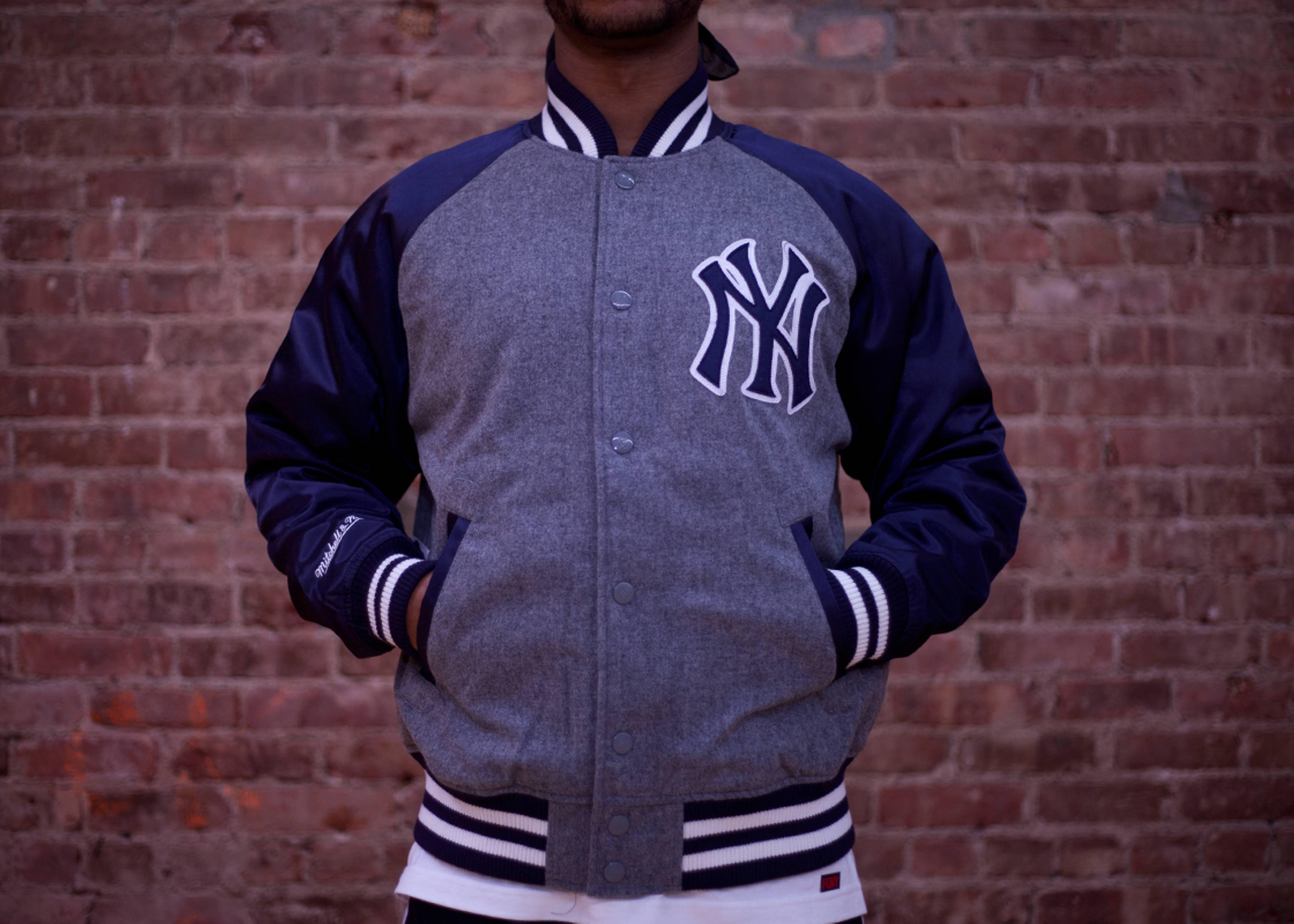 wholesale dealer d0416 b9a88 New York Yankees Triple Play Jacket - Mitchell & Ness - 3 ...