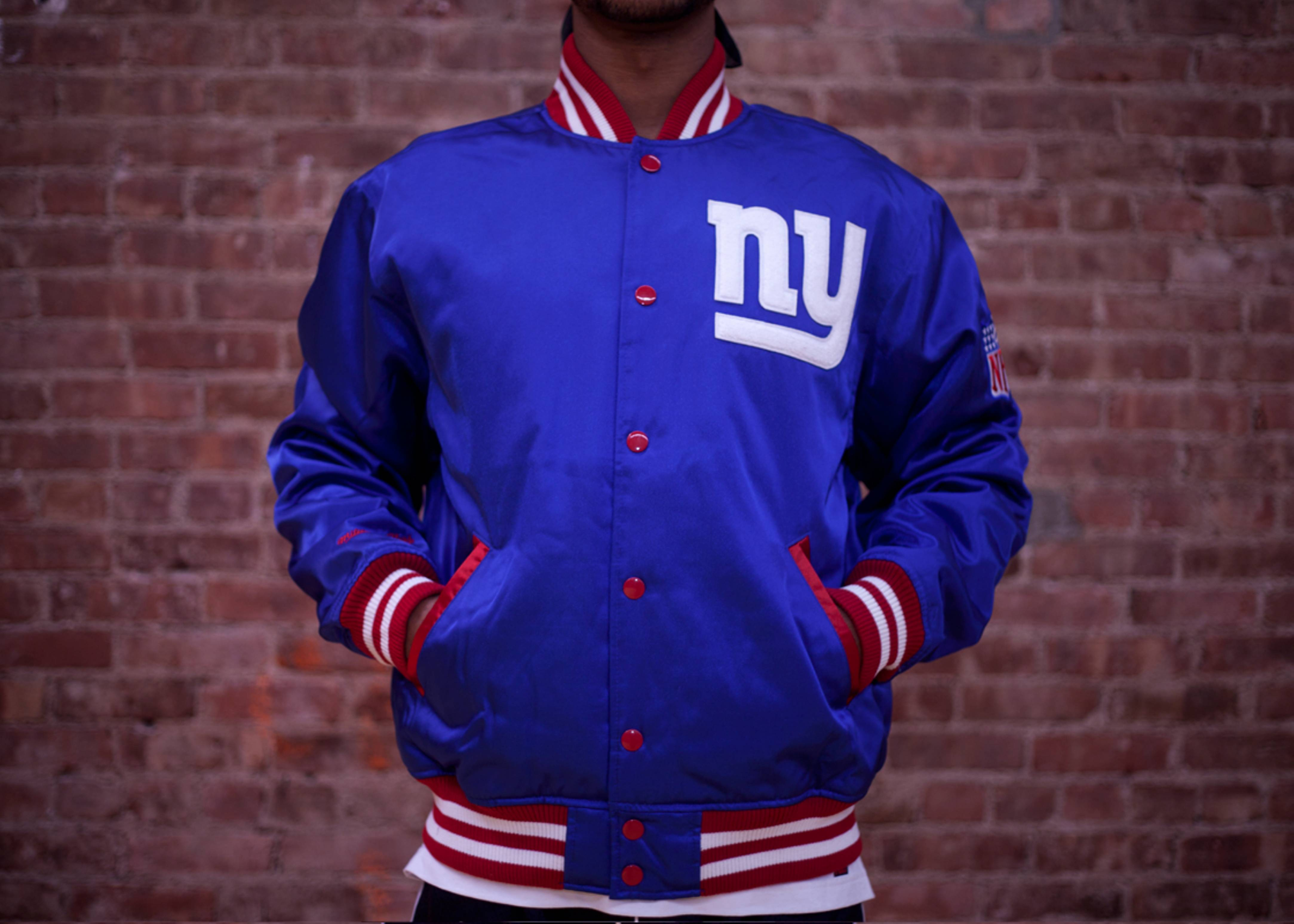 new york giants screen pass satin jacket