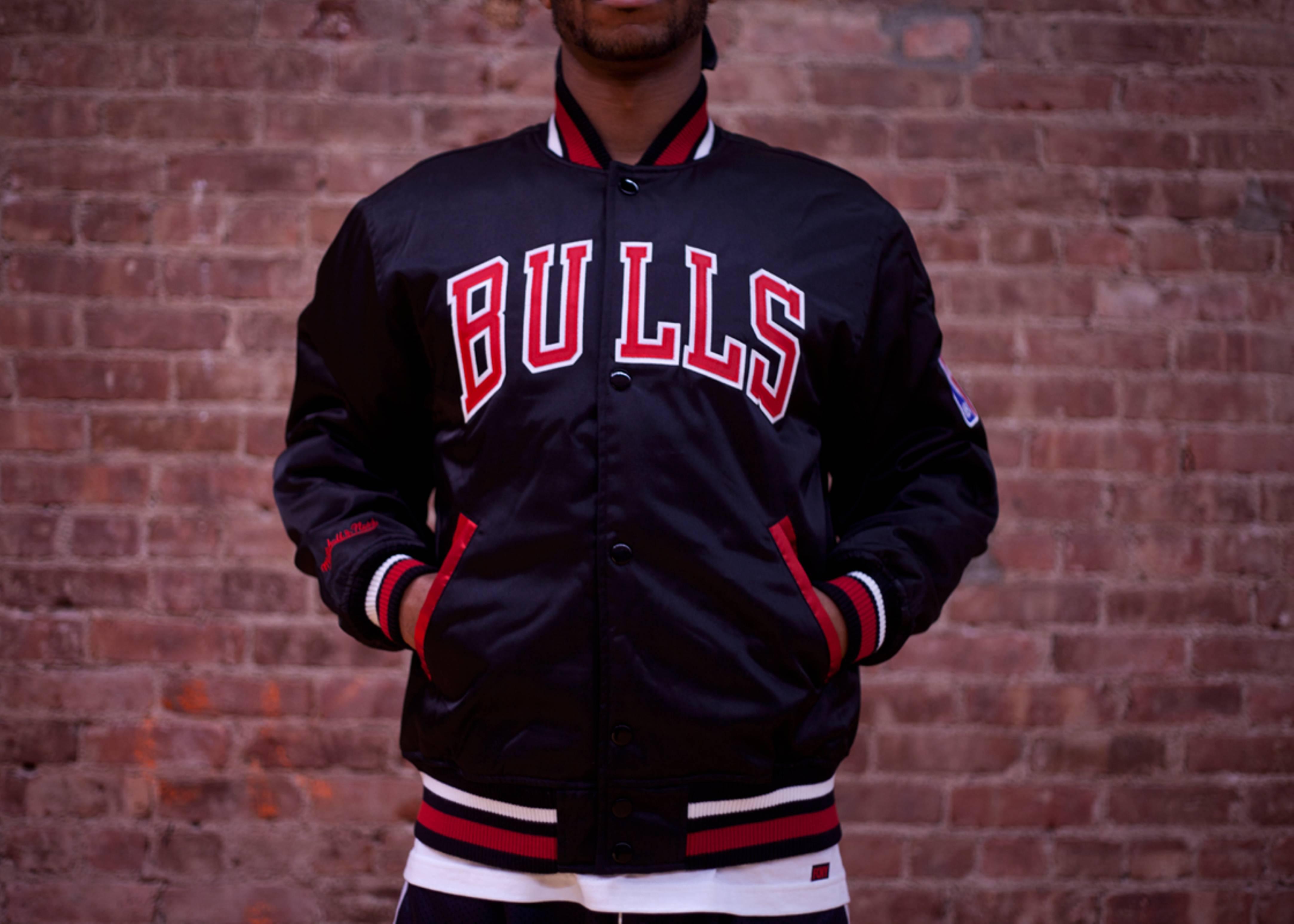 chicago bulls nba satin jacket