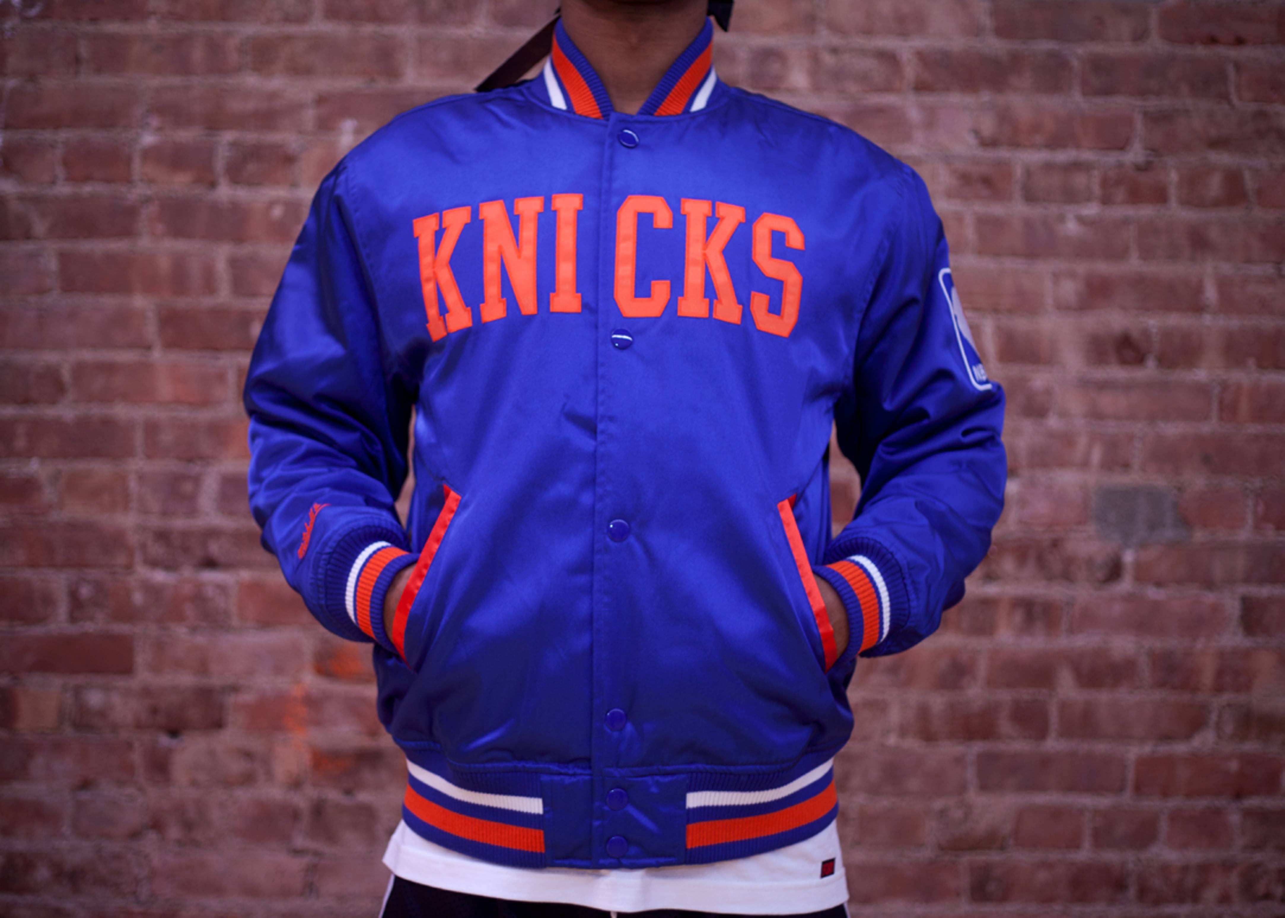 new york knicks nba satin jacket