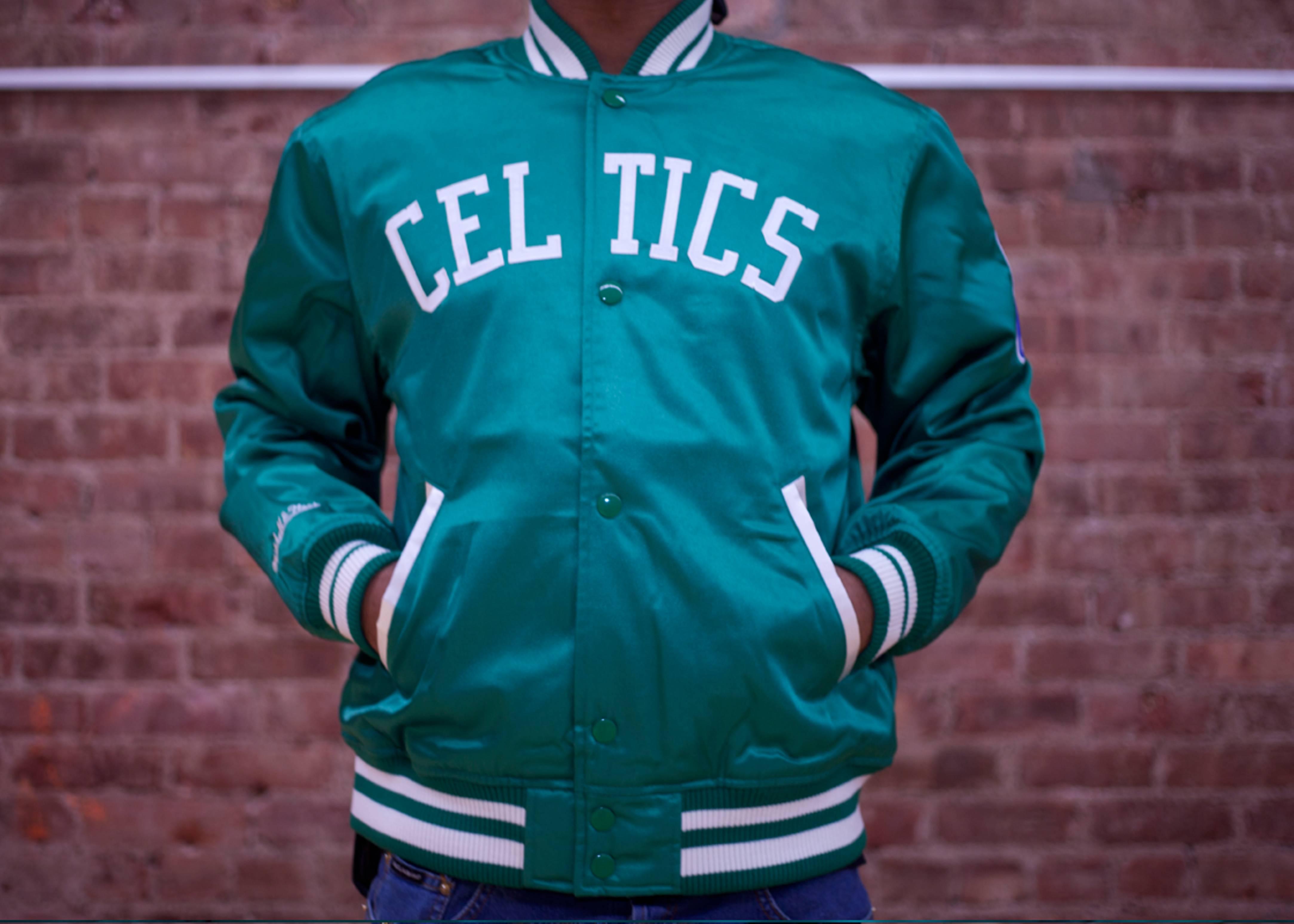 boston celtics nba satin jacket