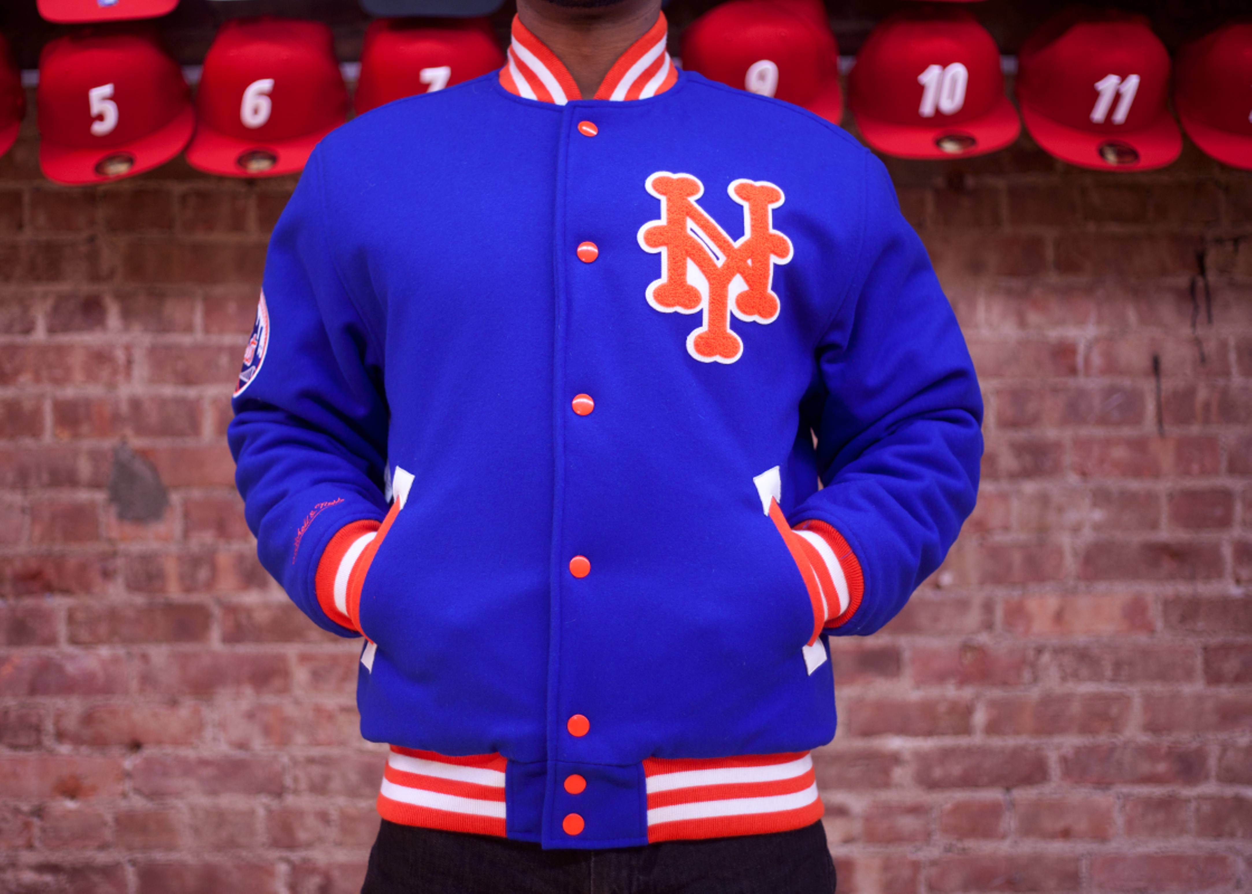 low priced 30524 2ef45 New York Mets Wool Jacket - Mitchell & Ness - 12 - blue ...