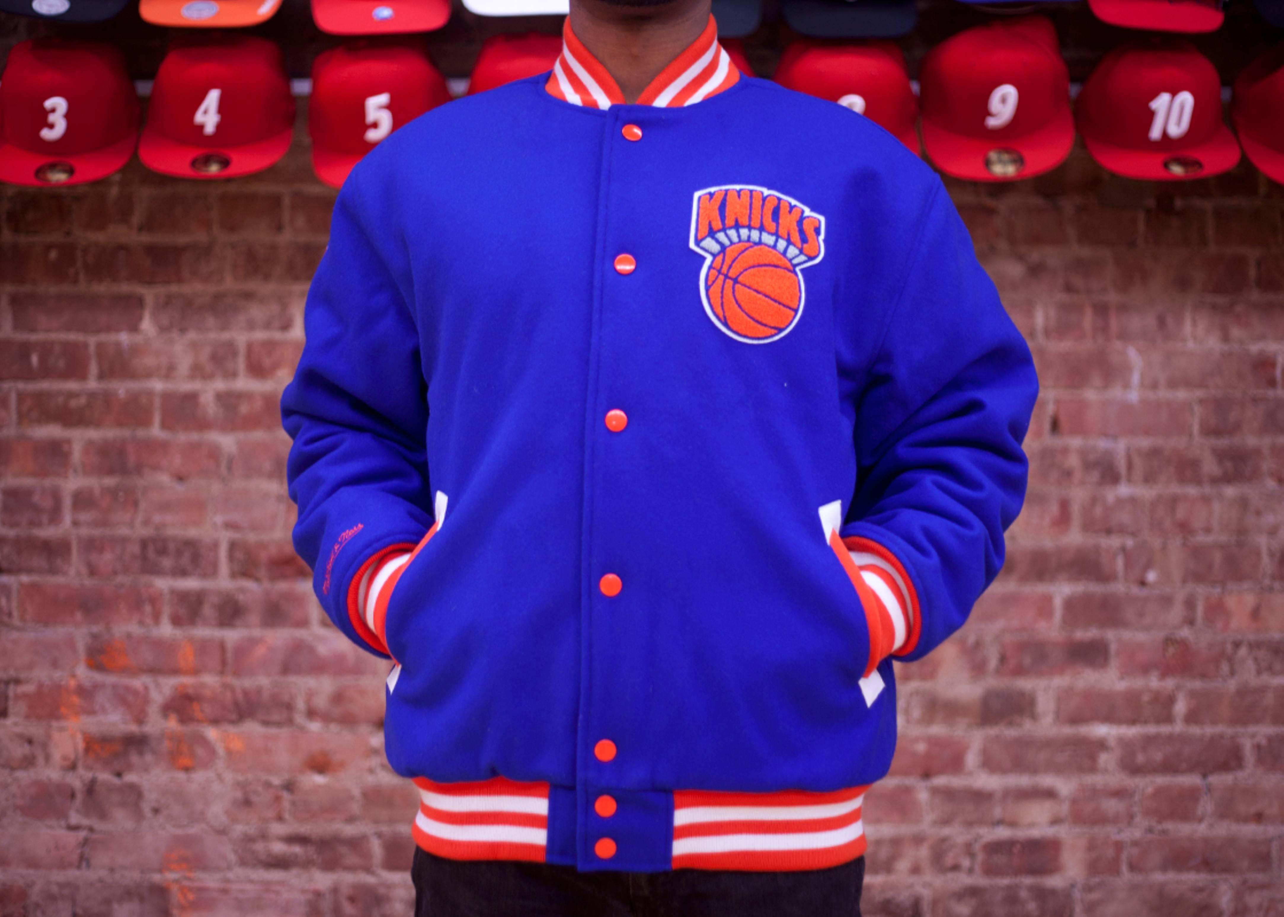new york knicks wool jacket