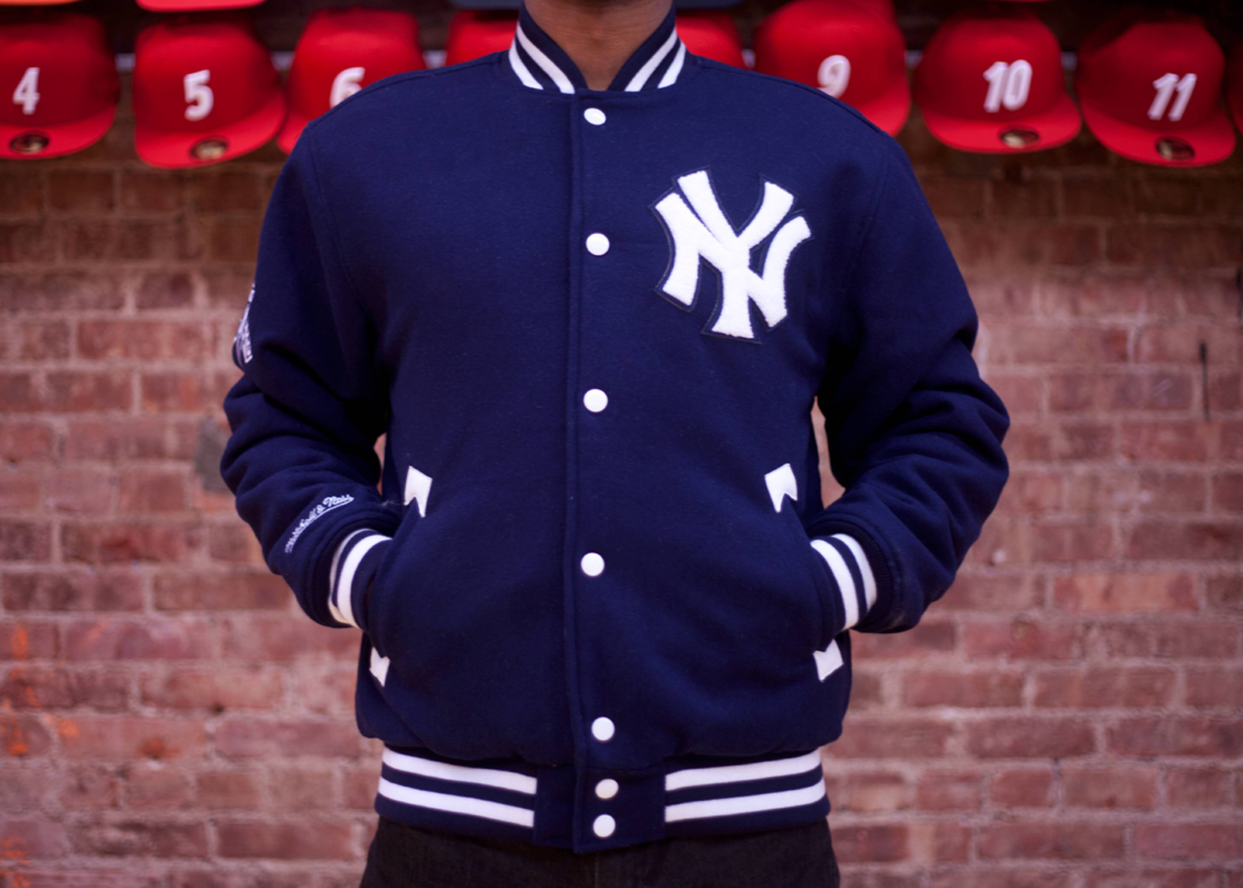 100% authentic 162f7 a3508 New York Yankees Wool Jacket - Mitchell & Ness - 14 - navy ...