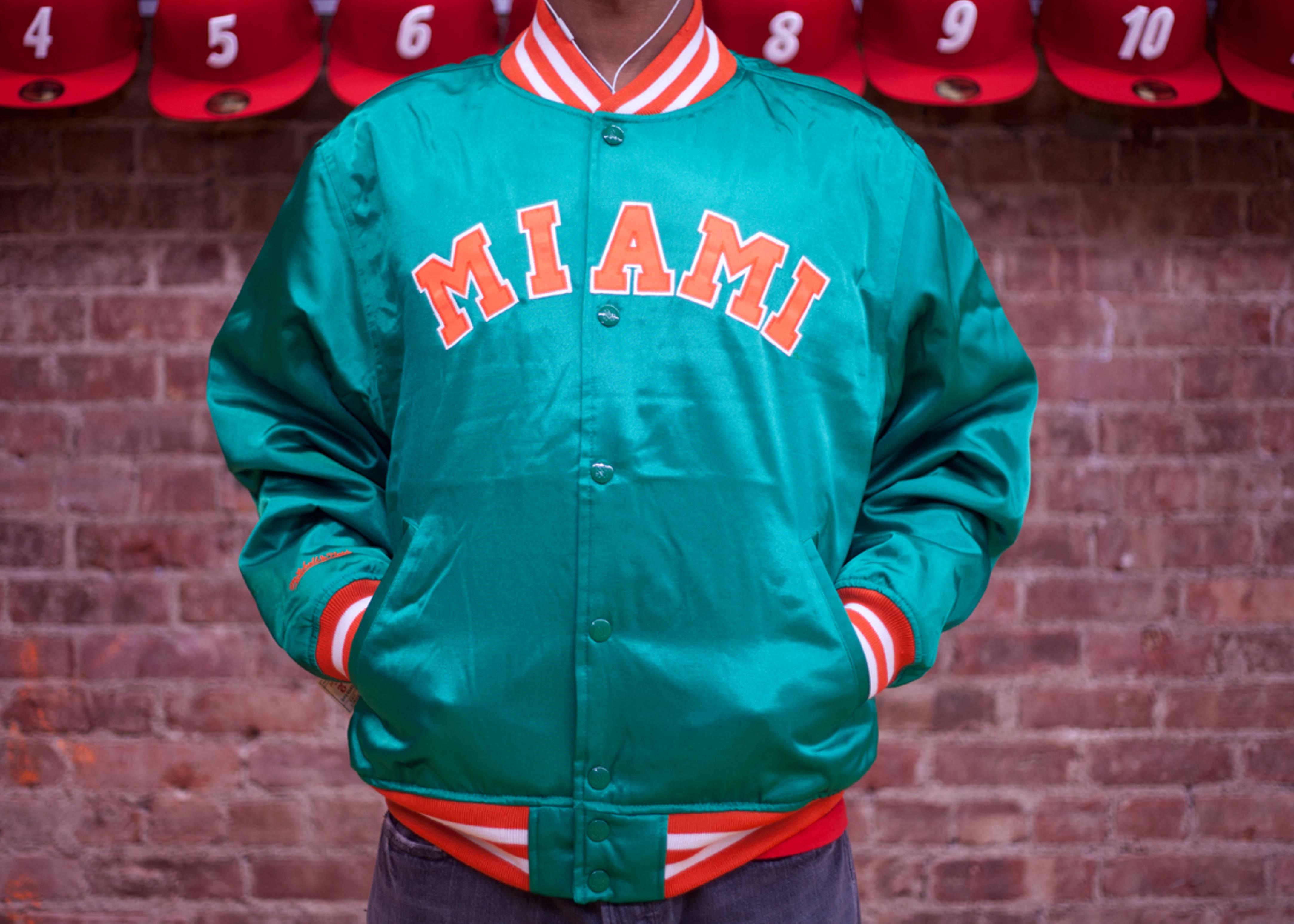 "university of miami satin jacket ""the ""u"""""