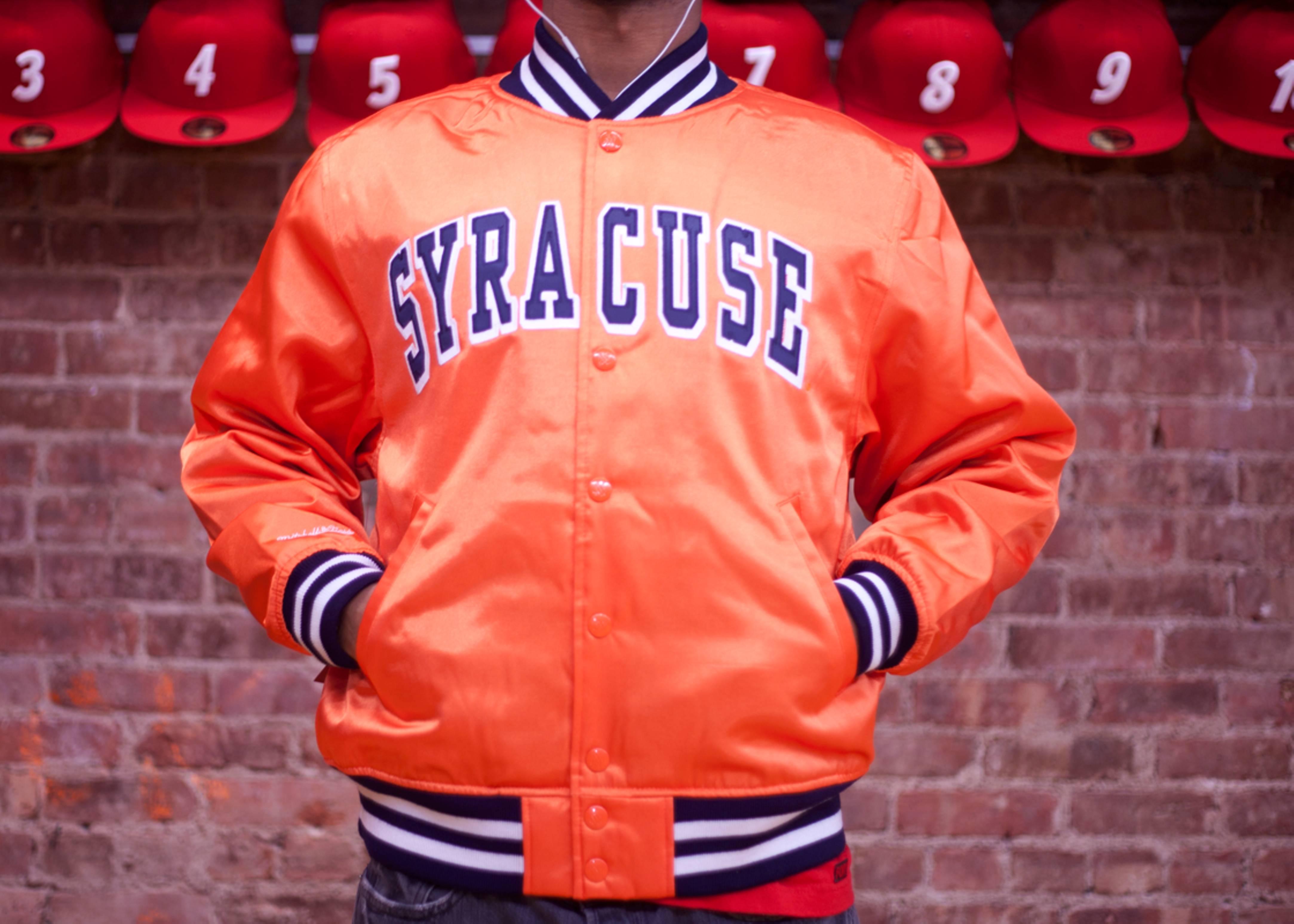"""syracuse university satin jacket """"orangemen"""""""
