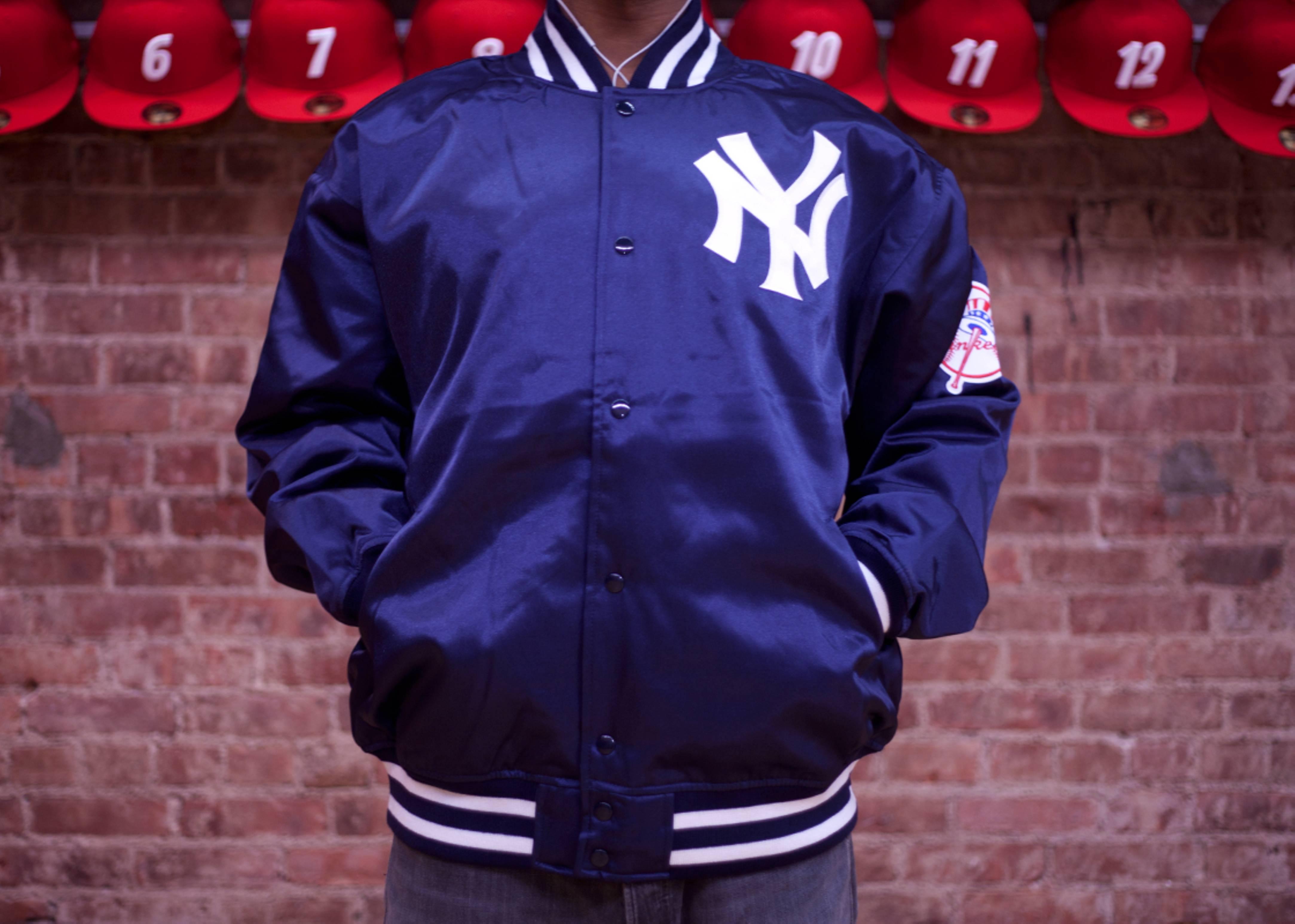 new york yankees mlb satin jacket