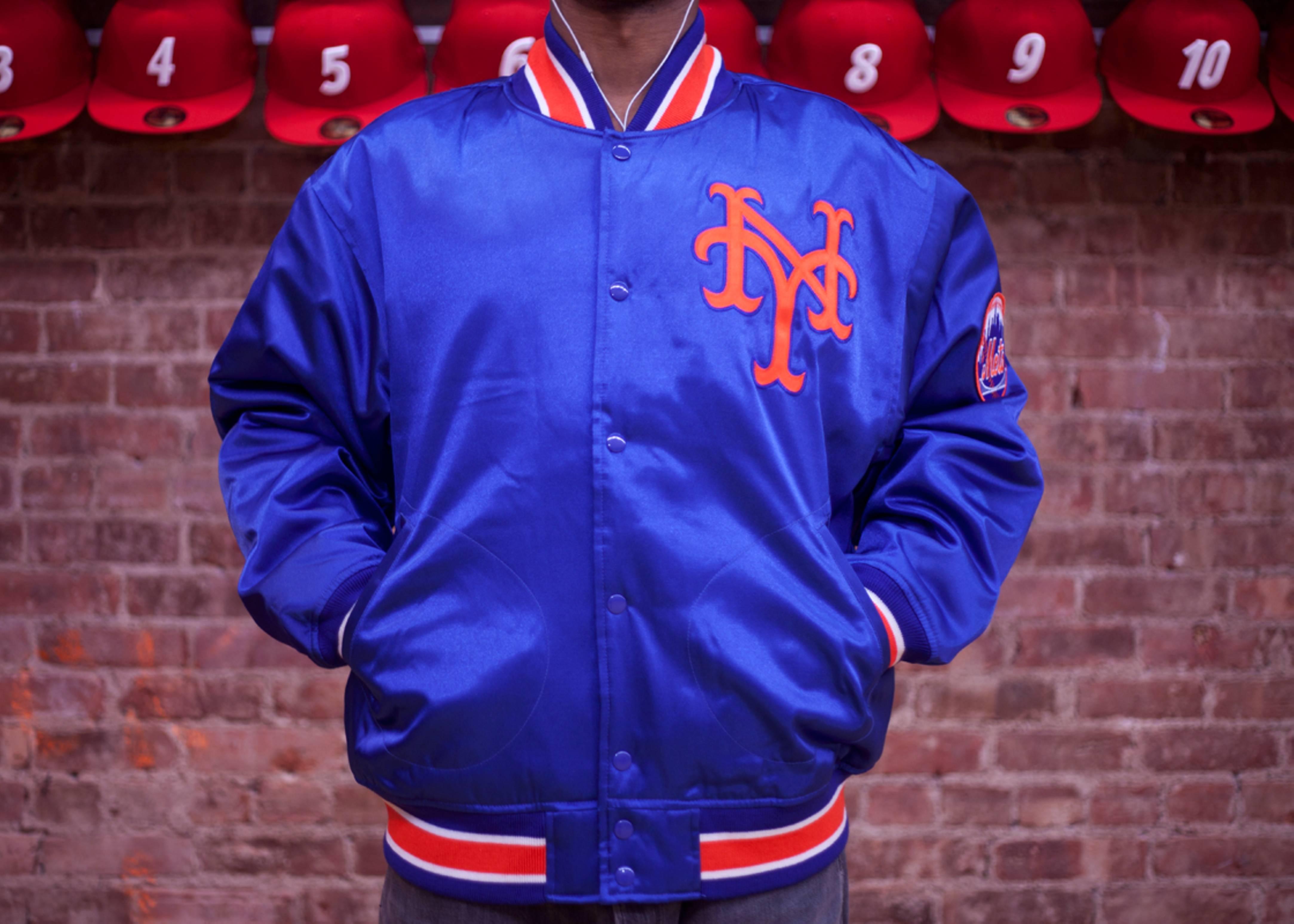 new york mets mlb satin jacket