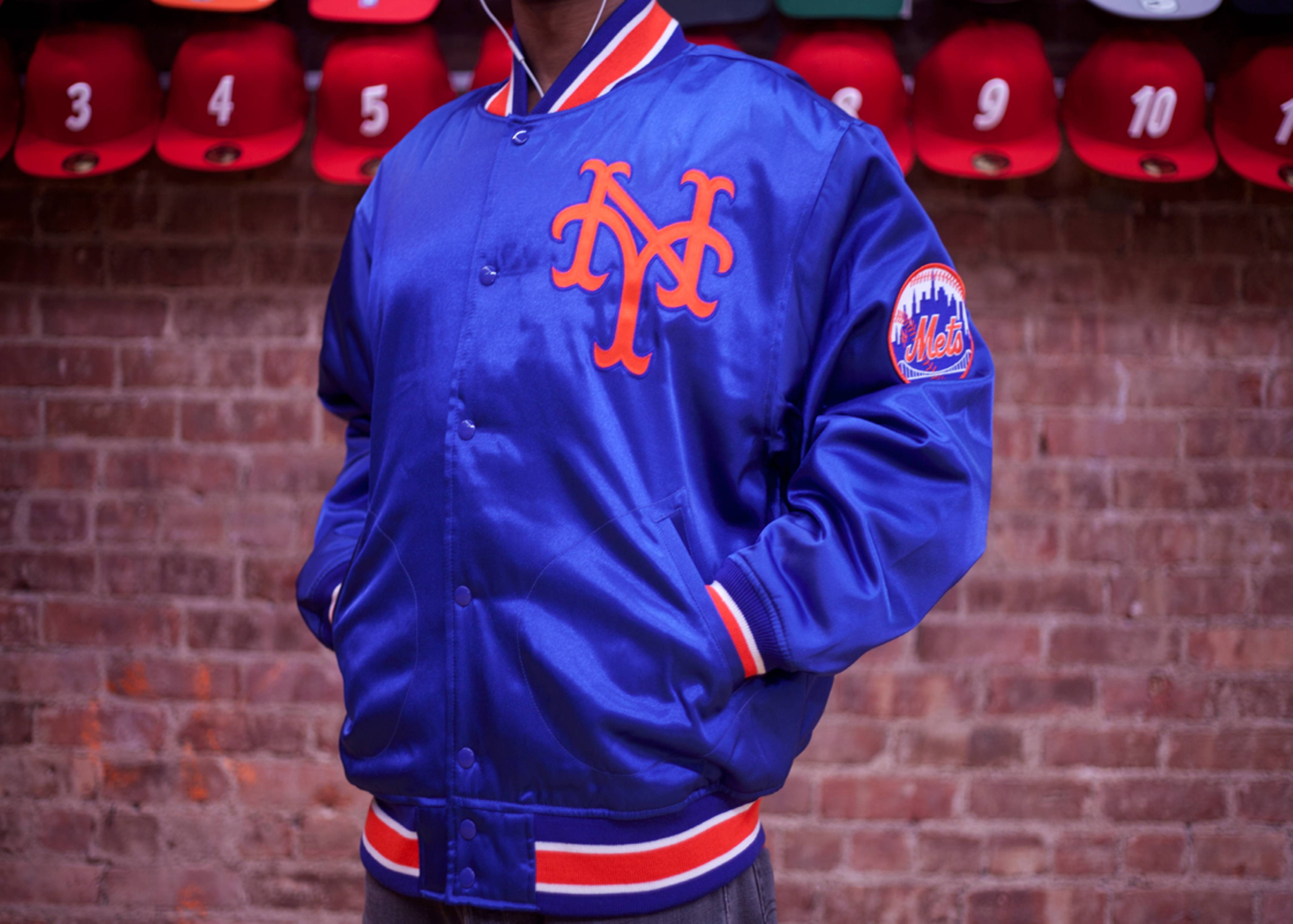 reputable site 89fae 5b971 New York Mets Mlb Satin Jacket - Mitchell & Ness - 19 - blue ...