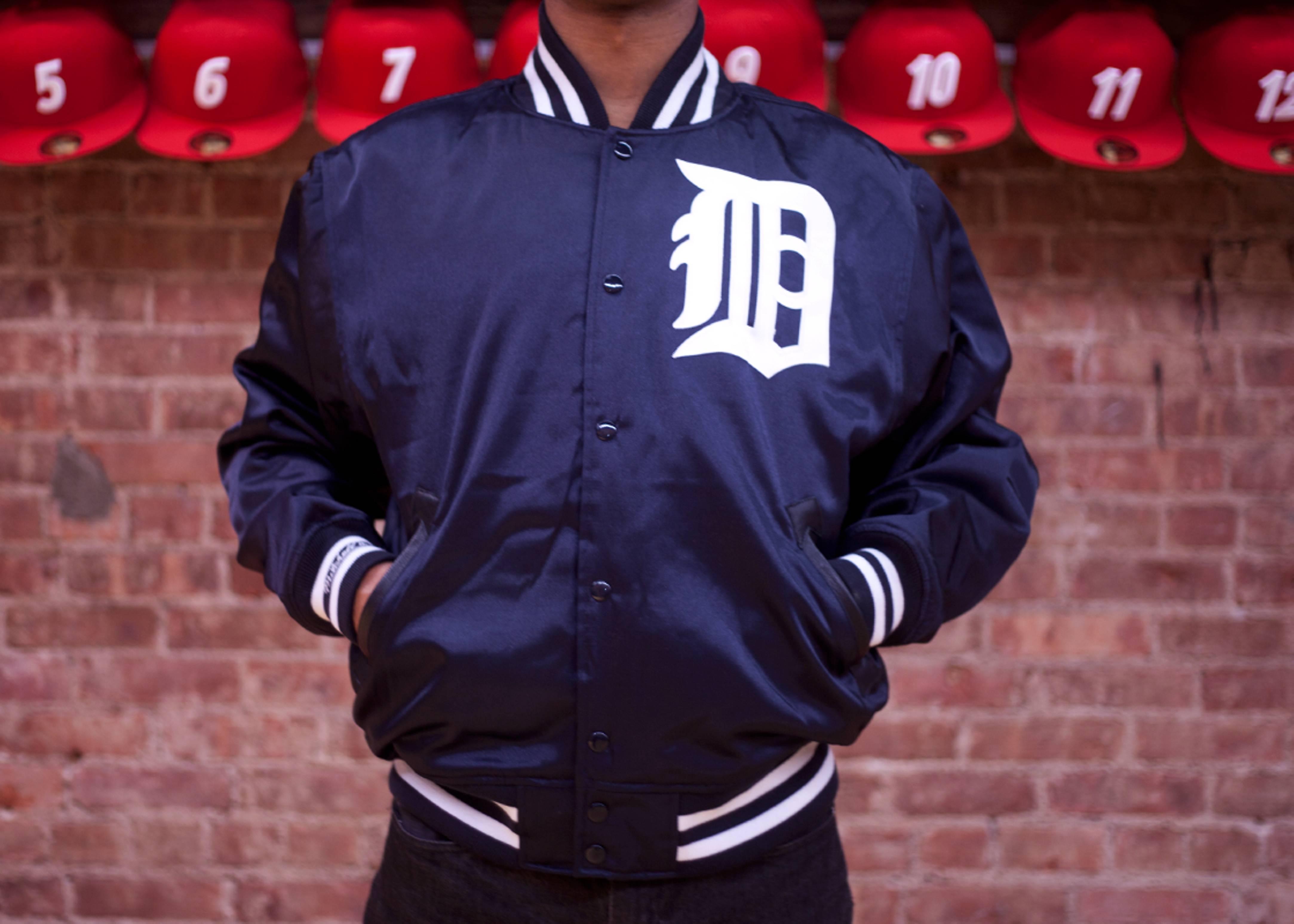 detroit tigers mlb satin jacket