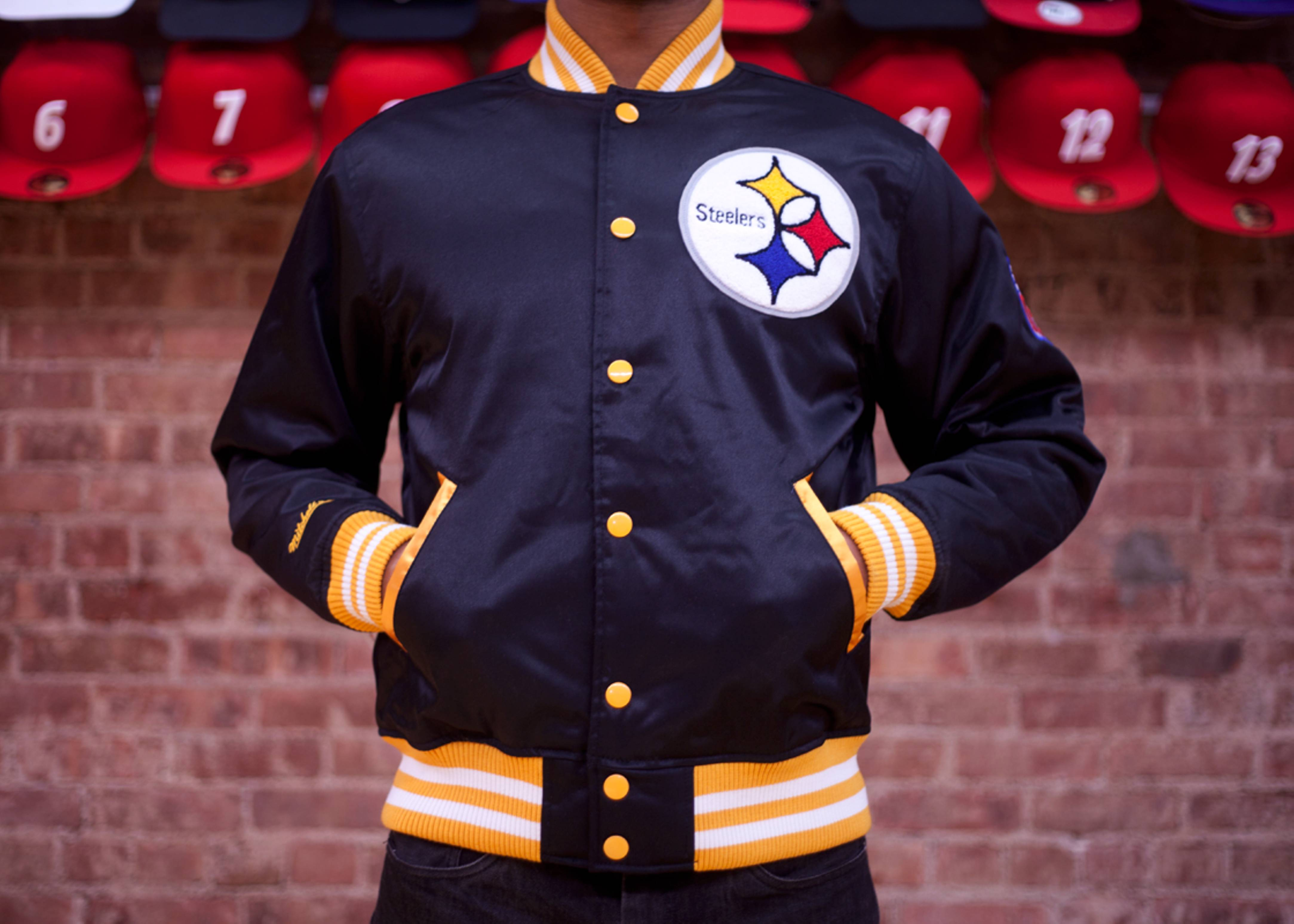 pittsburgh steelers nfl satin jacket