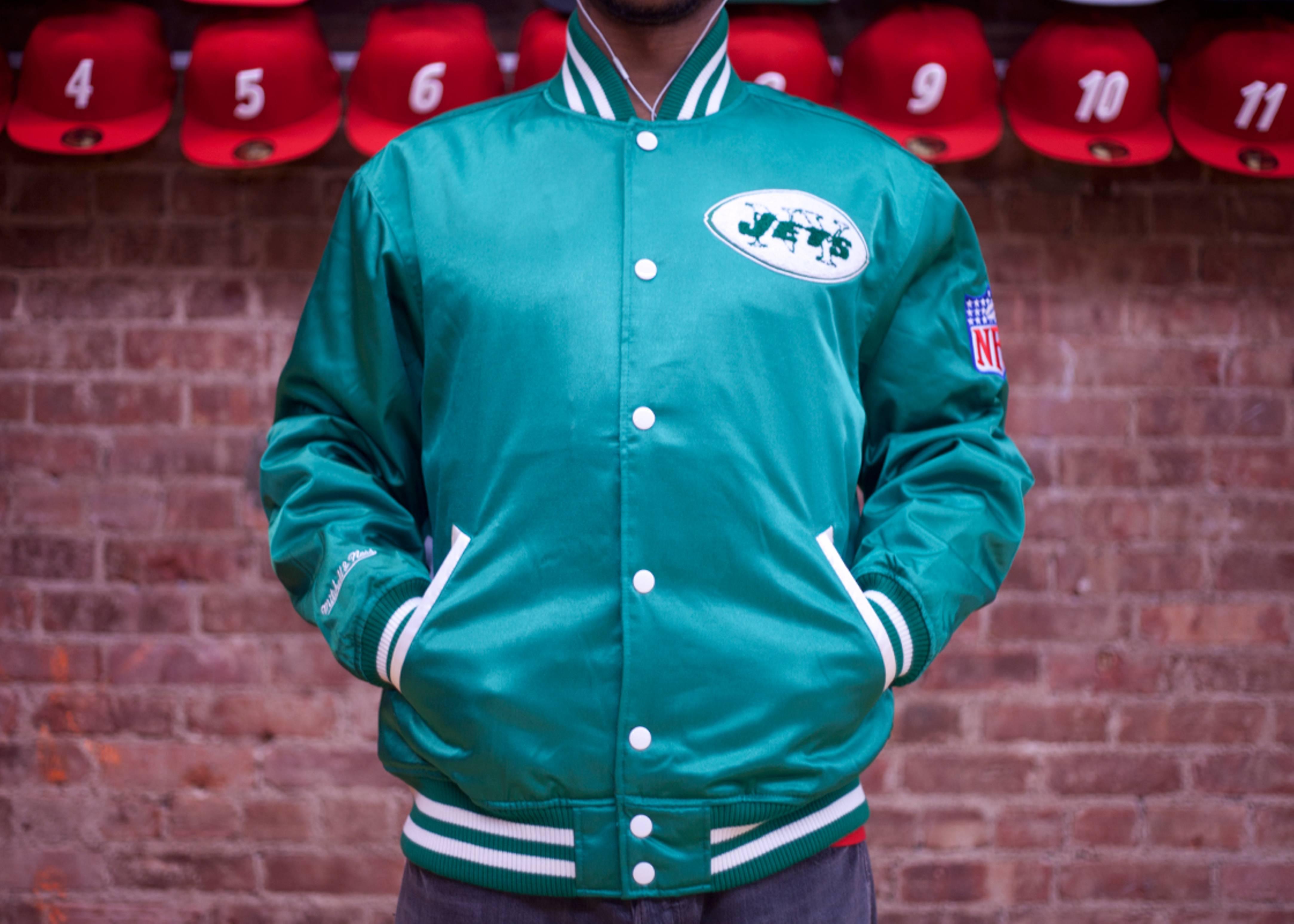 new york jets nfl satin jacket