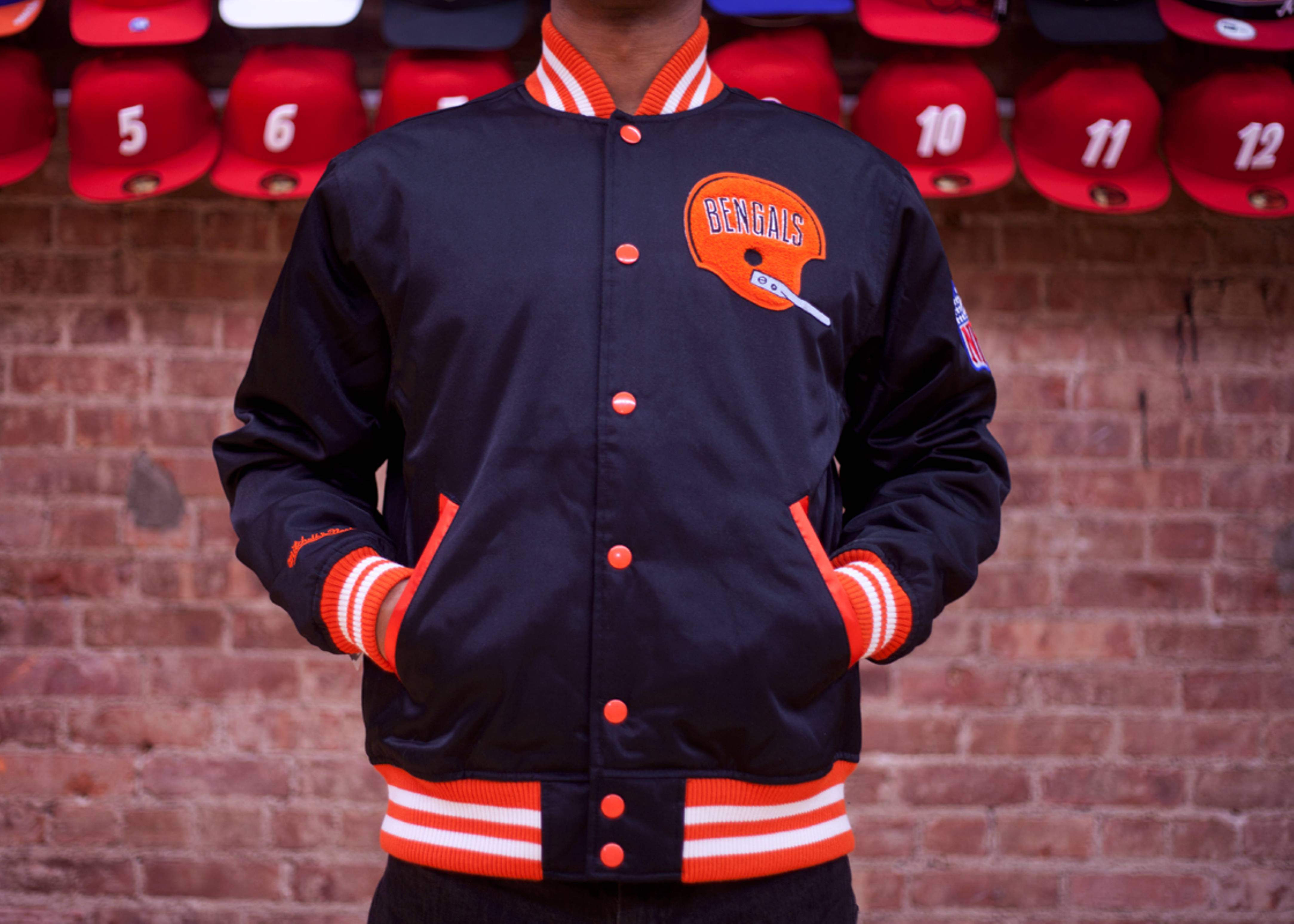 cincinnati bengals nfl satin jacket