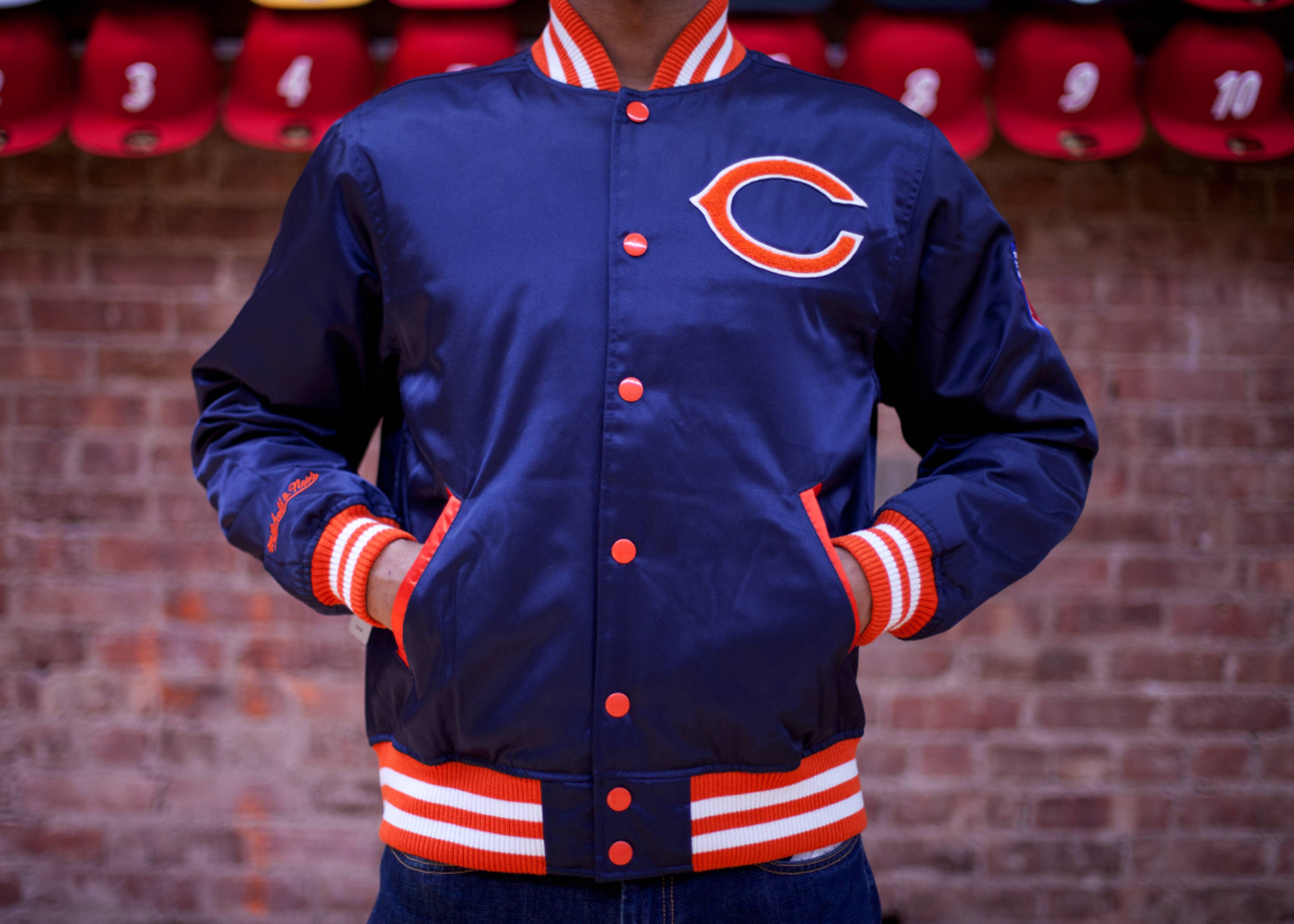 chicago bears nfl satin jacket