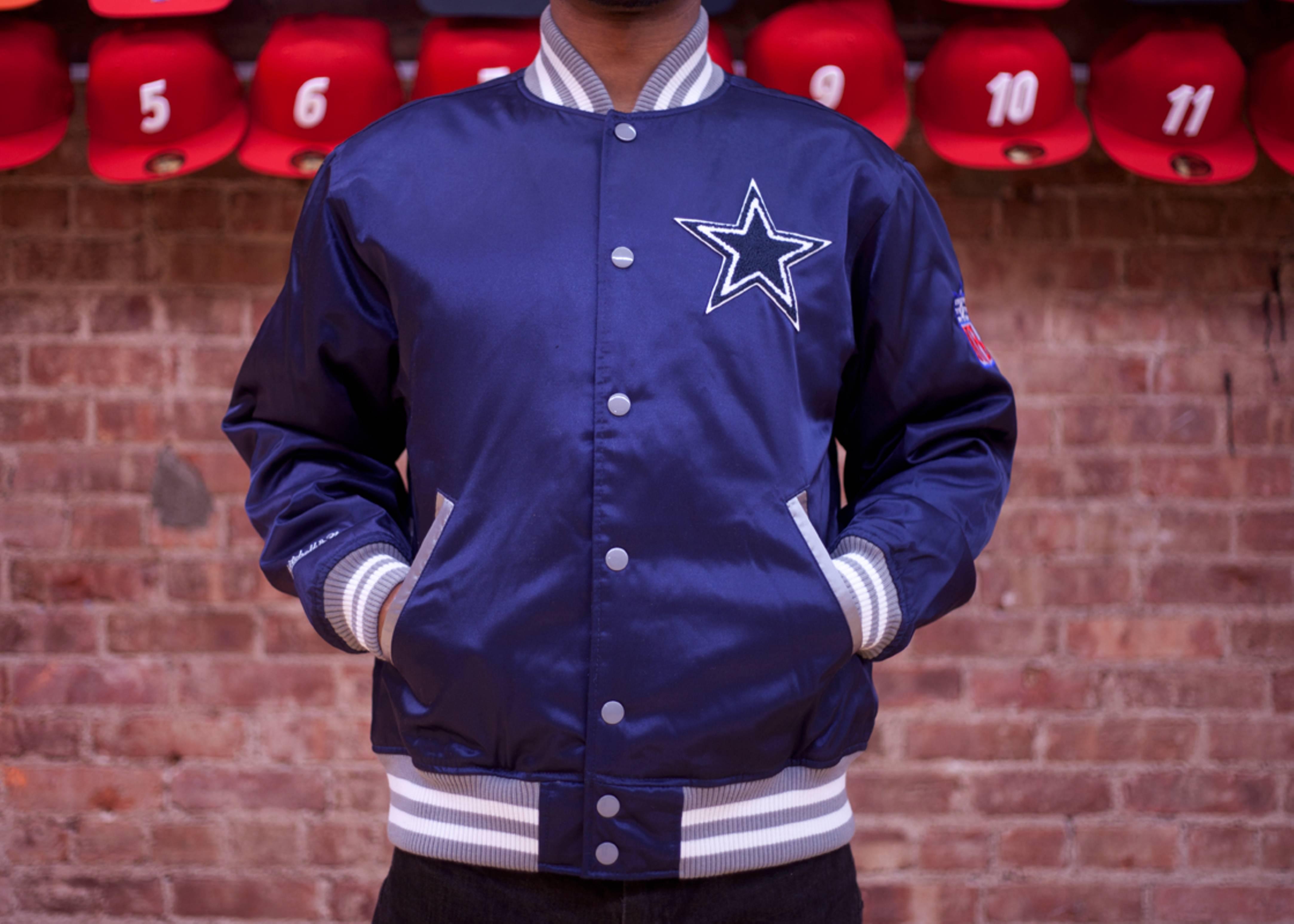 dallas cowboys nfl satin jacket