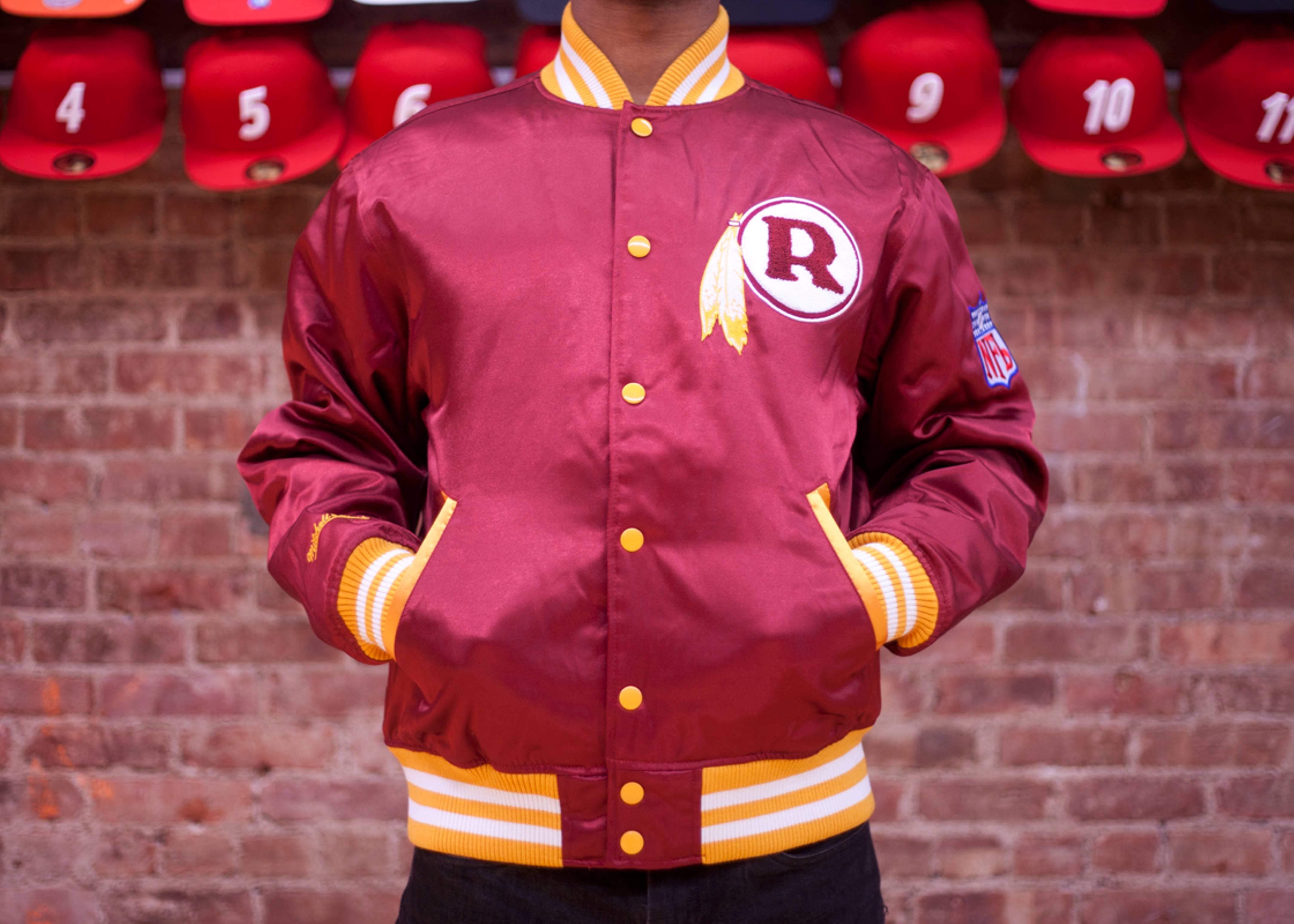 washington redskins nfl satin jacket