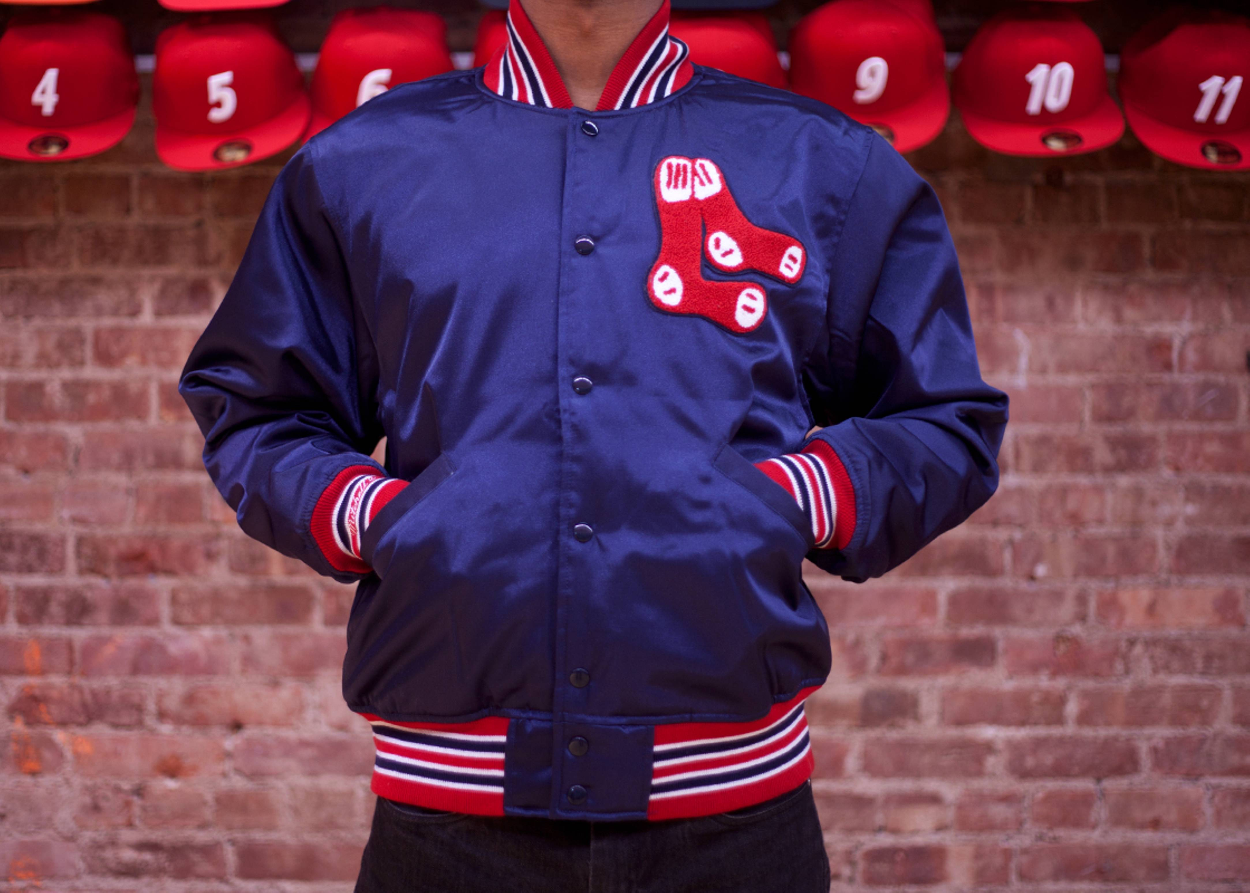 boston red sox satin jacket