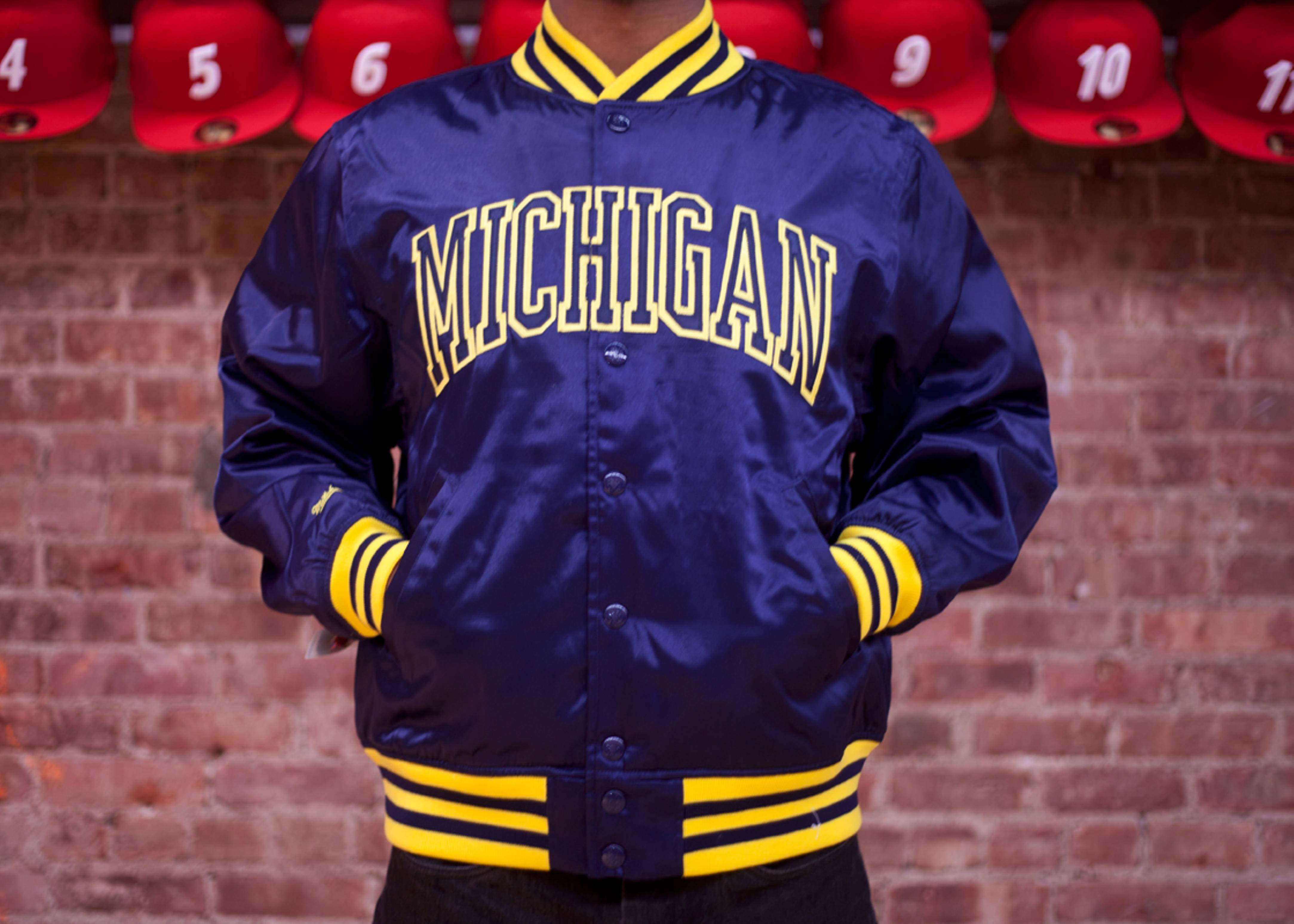 univ. of michigan satin jacket