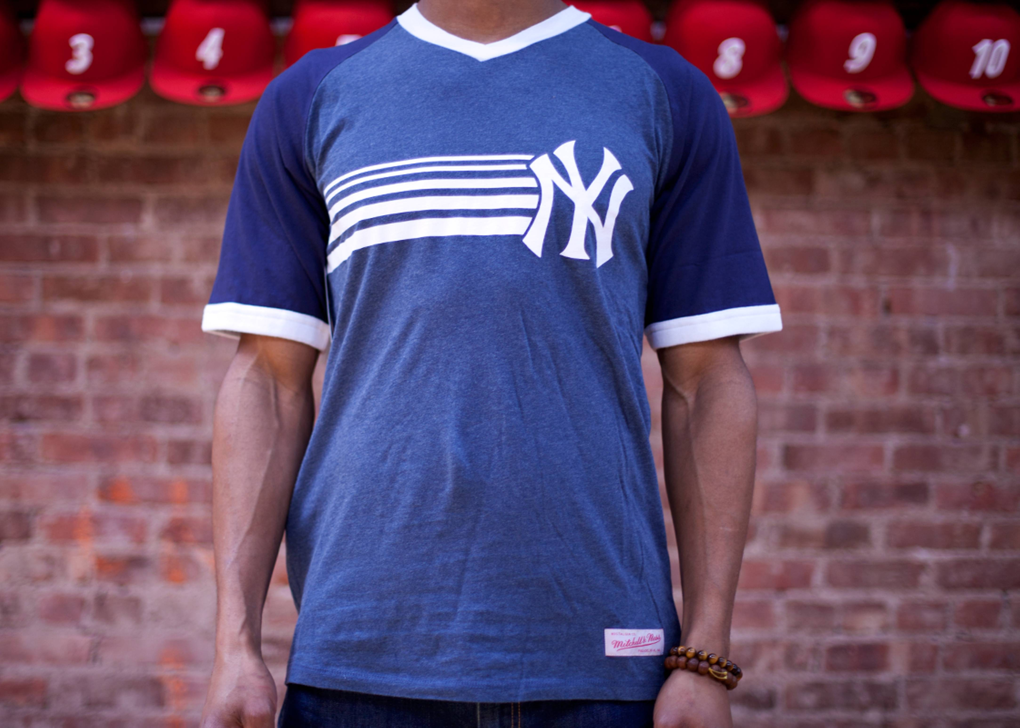 new york yankees undefeated v-neck tee