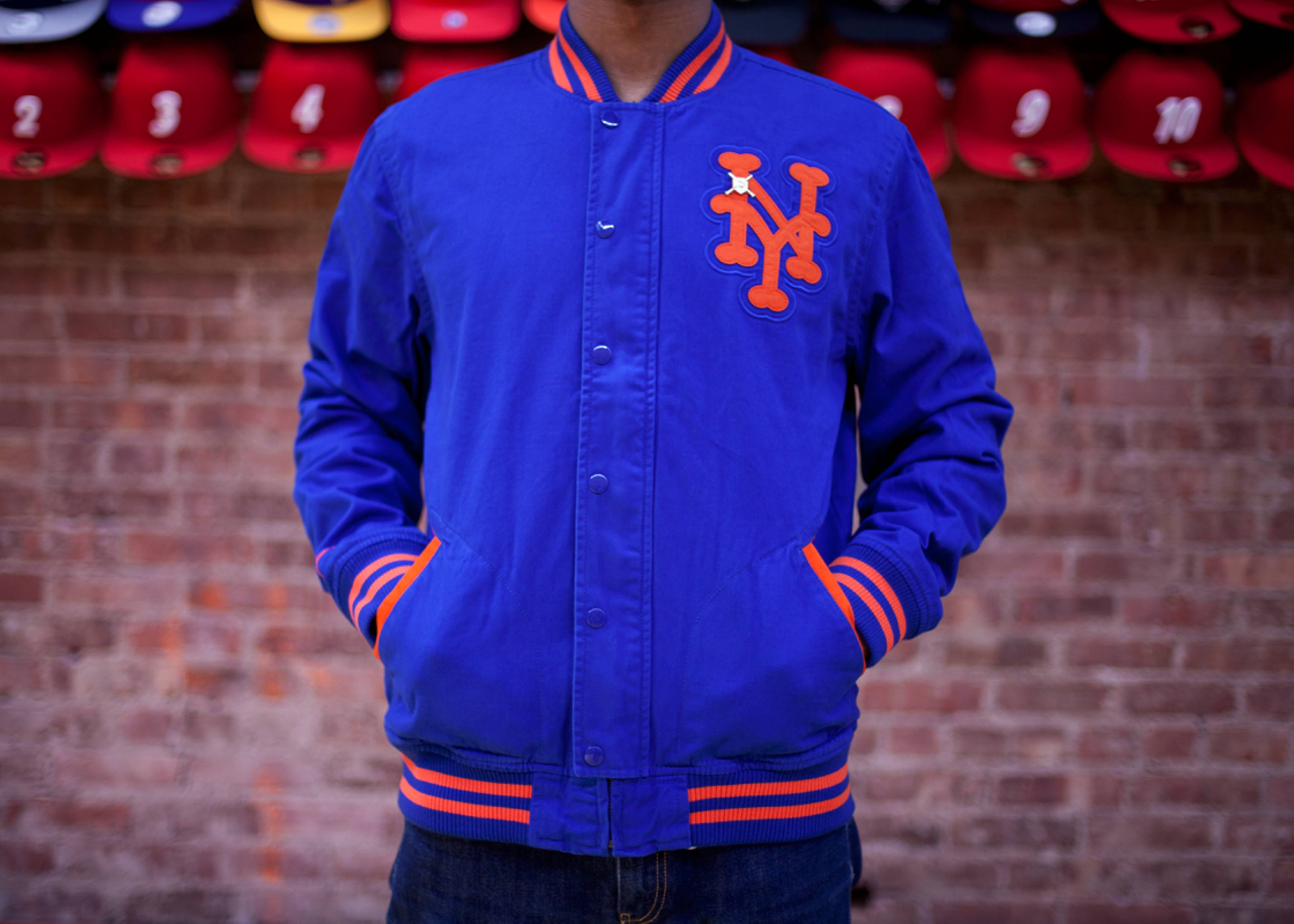 finest selection c36be 9428b New York Mets Vintage Twill Jacket - Mitchell & Ness - 35 ...