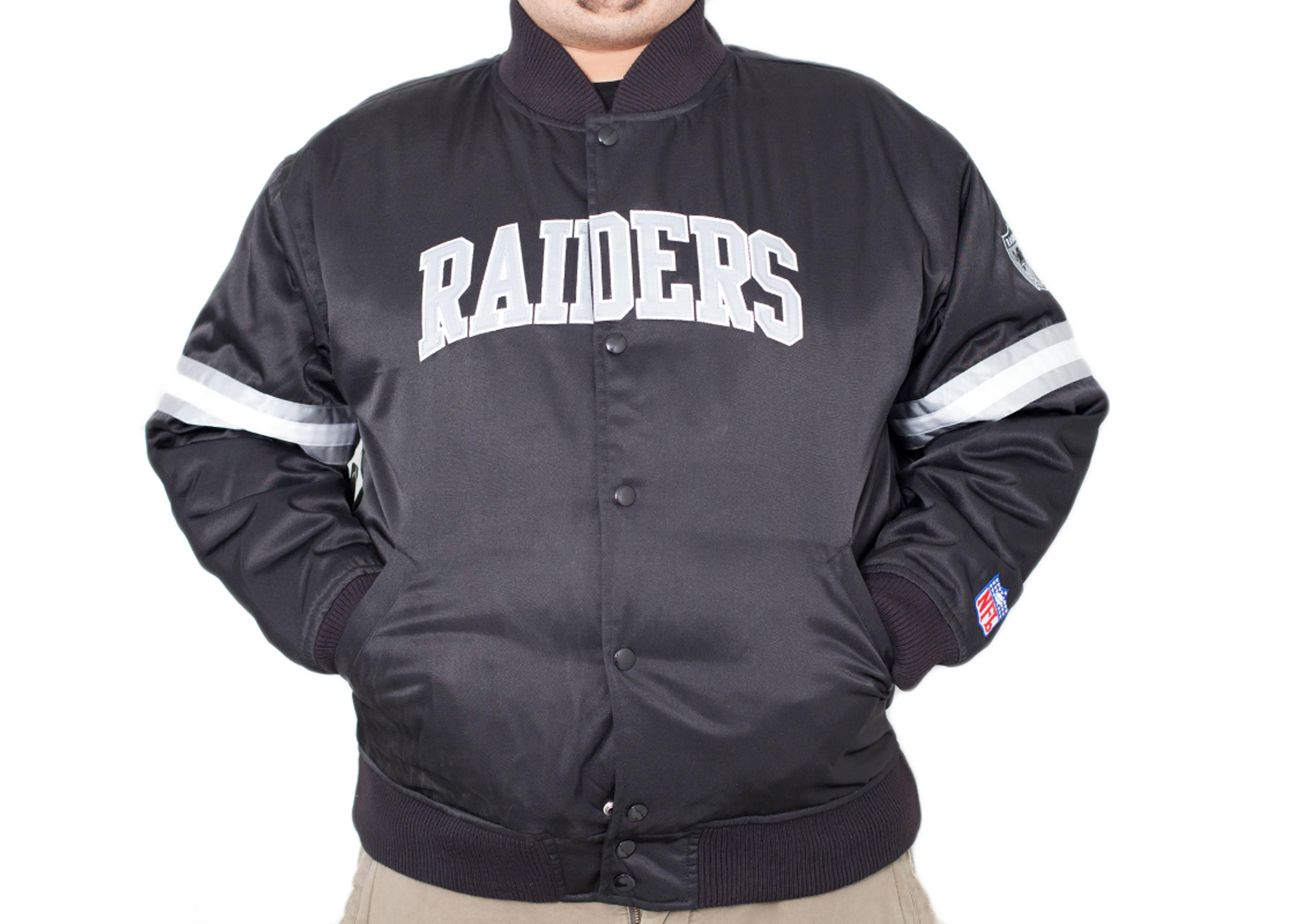 oakland raiders satin jacket