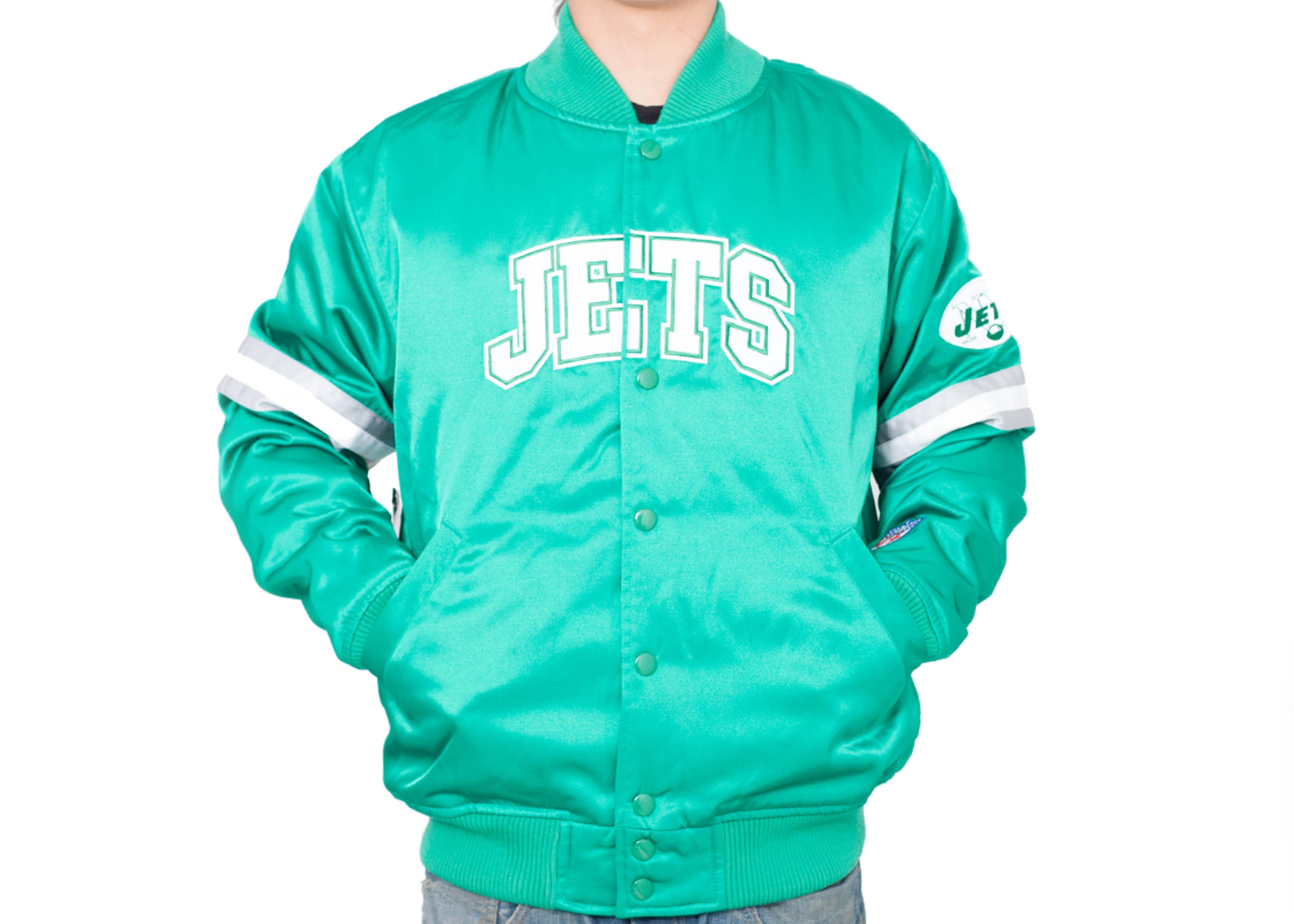new york jets satin jacket