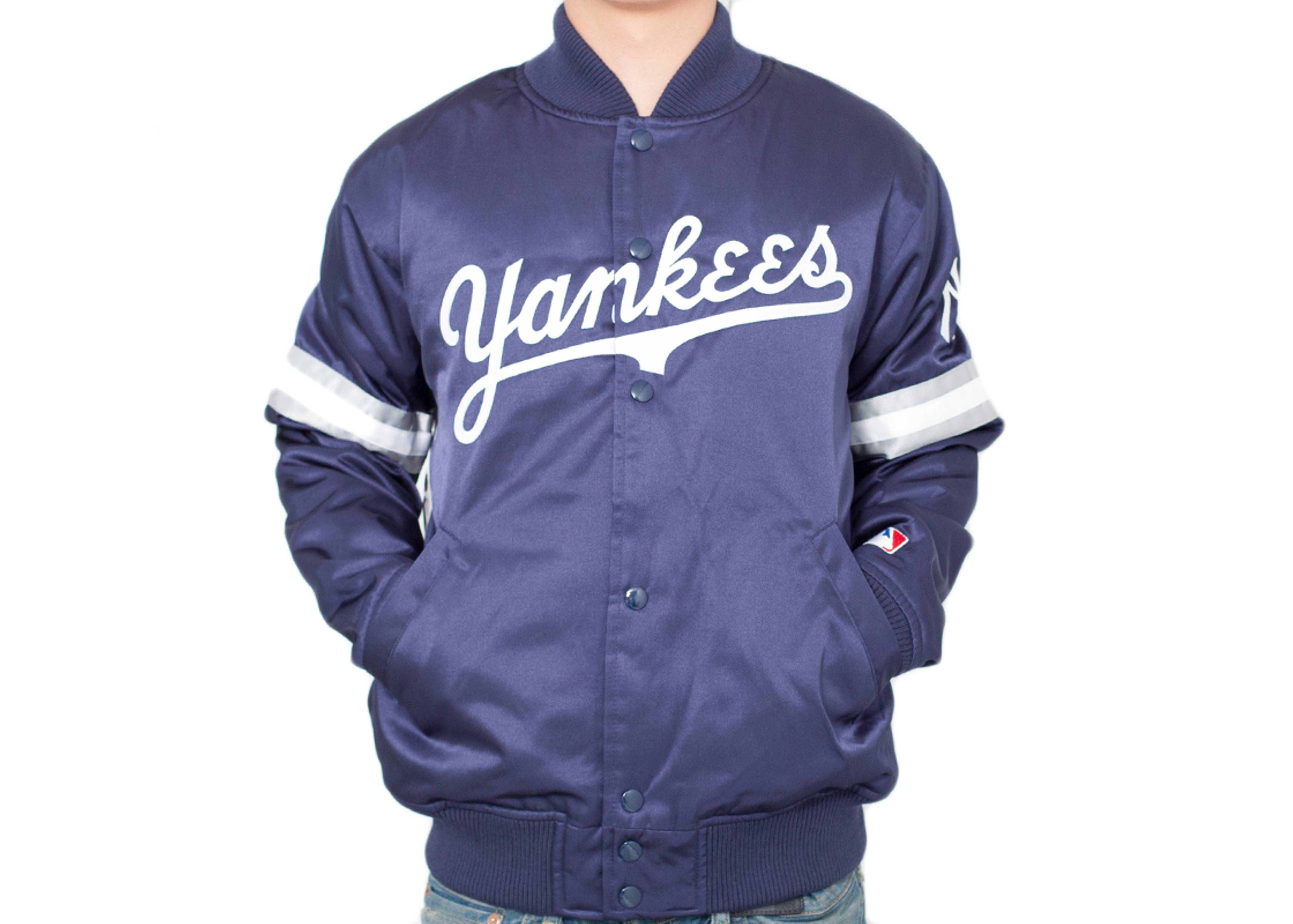 new york yankees satin jacket