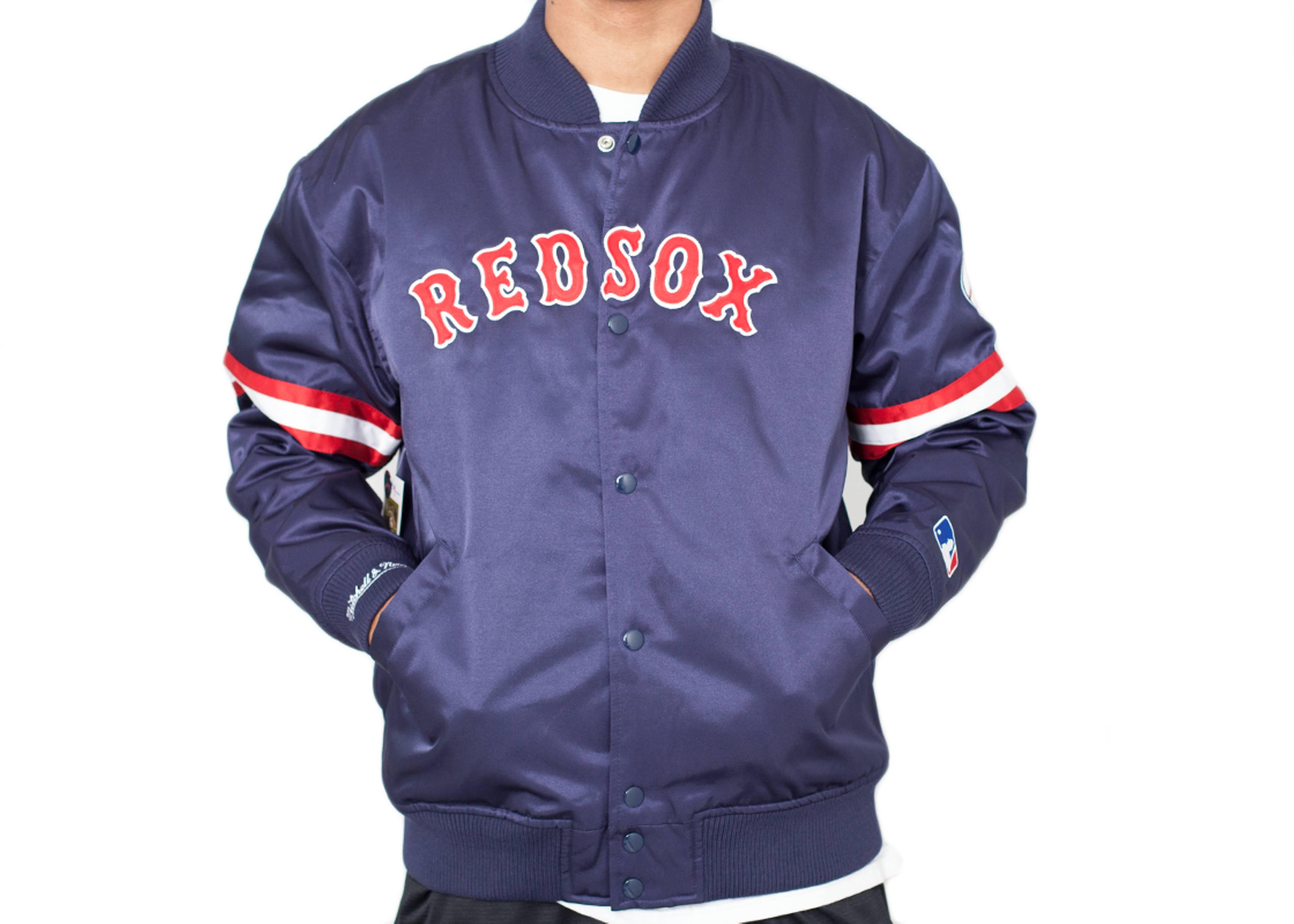 boston red sox satin jacket
