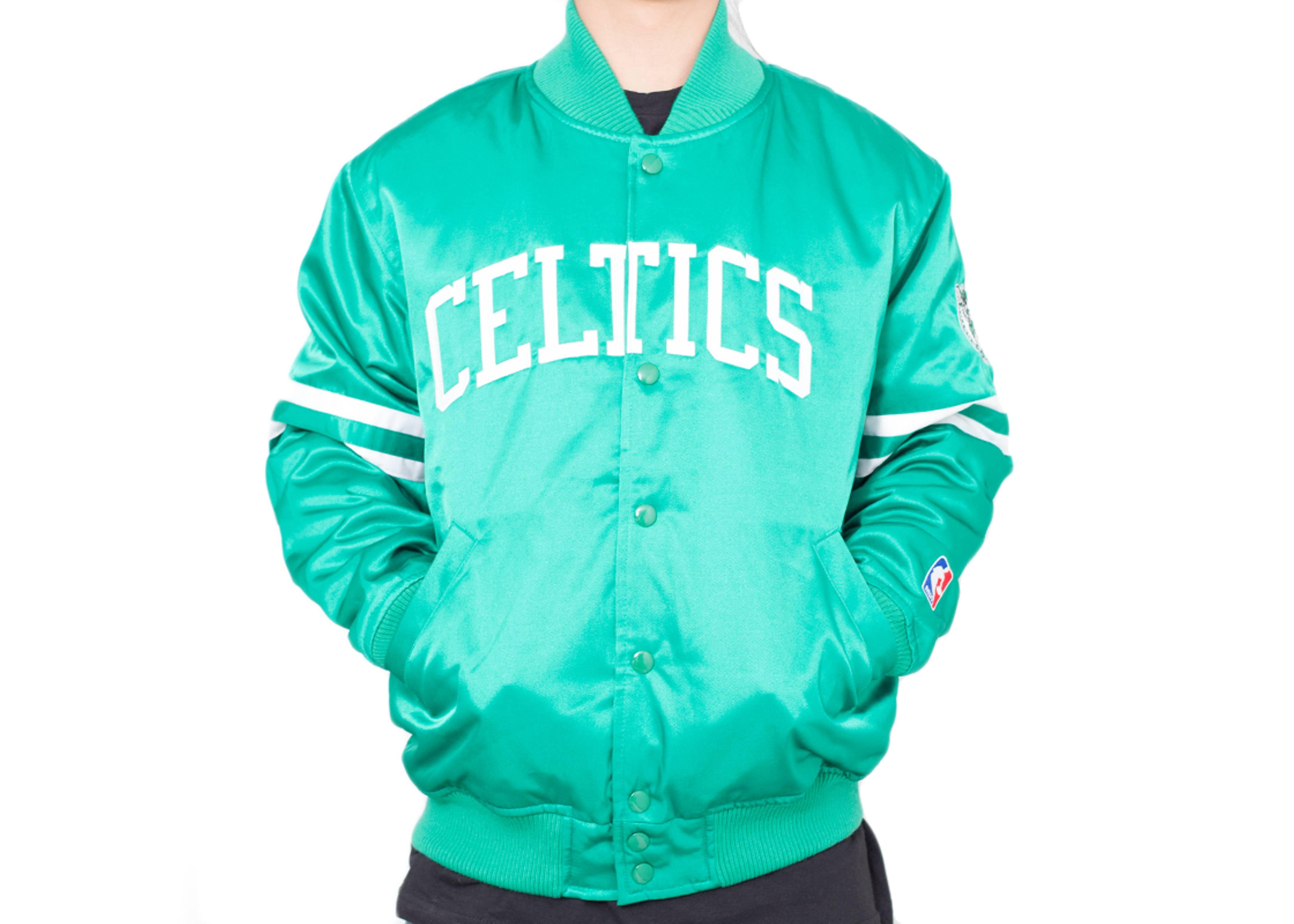 boston celtics satin jacket