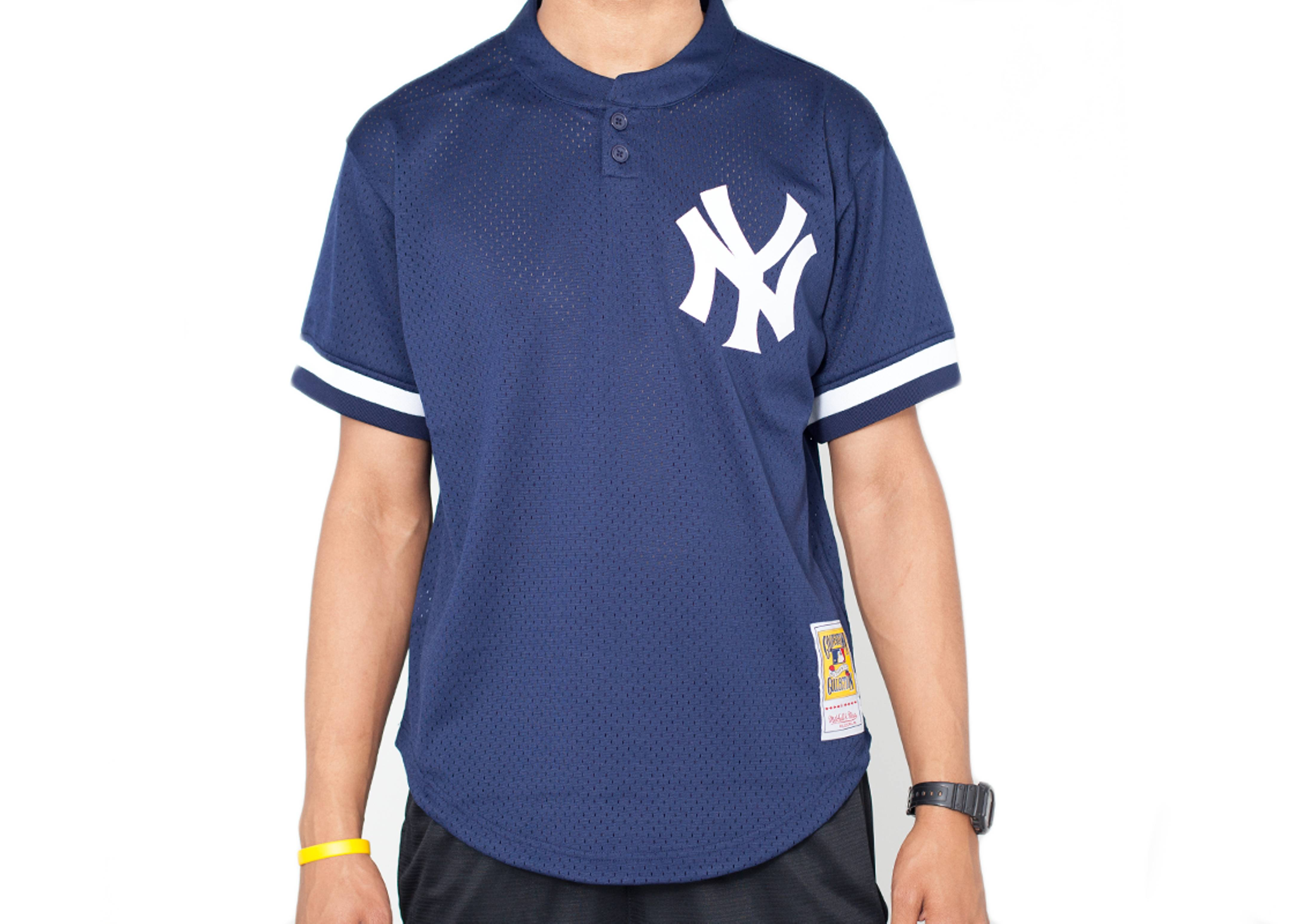 "new york yankees authentic mesh bp jersey ""1995 wade boggs"""