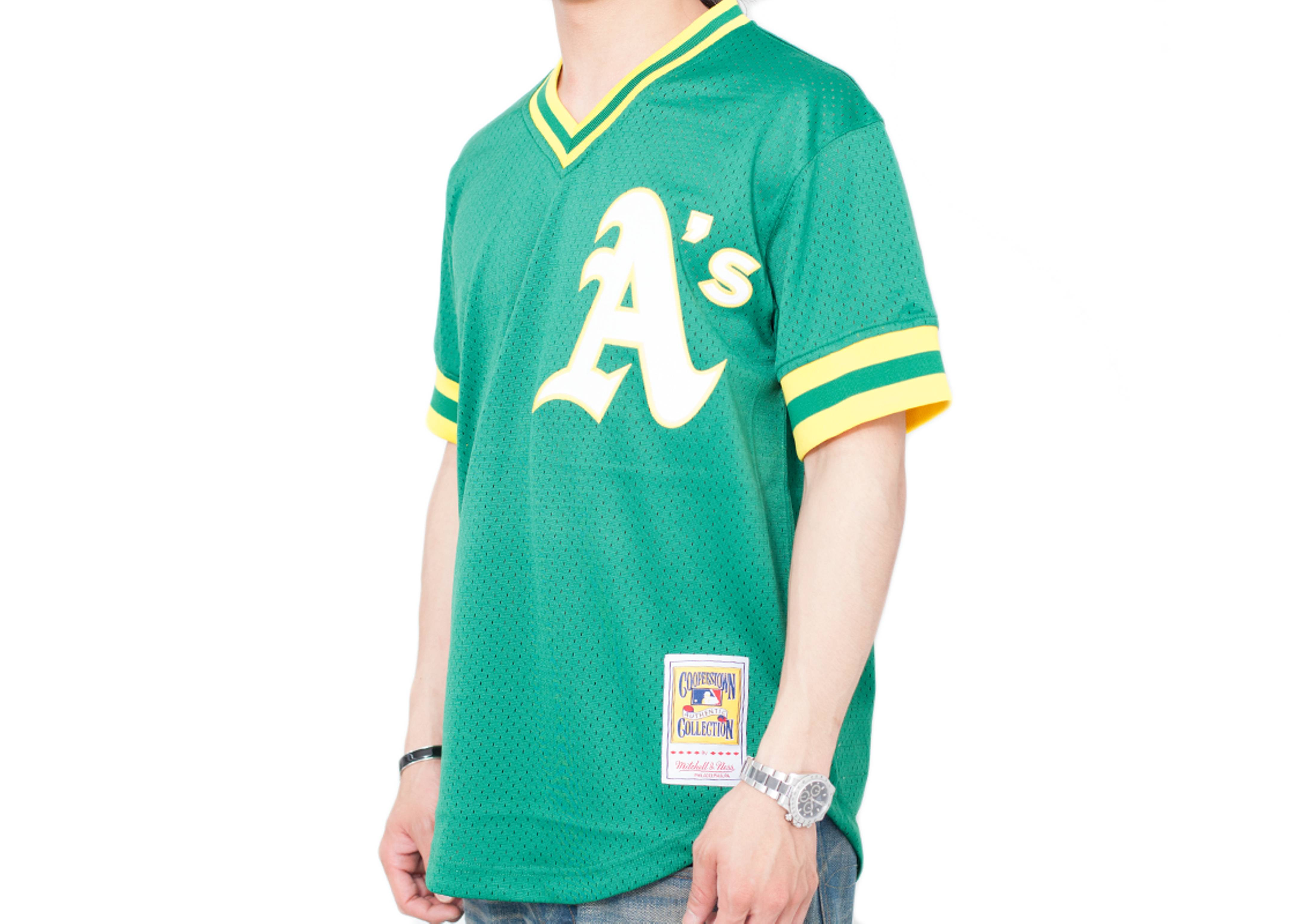 cheap for discount 1d729 65b3f Oakland Athletics Authentic Mesh Bp Jersey